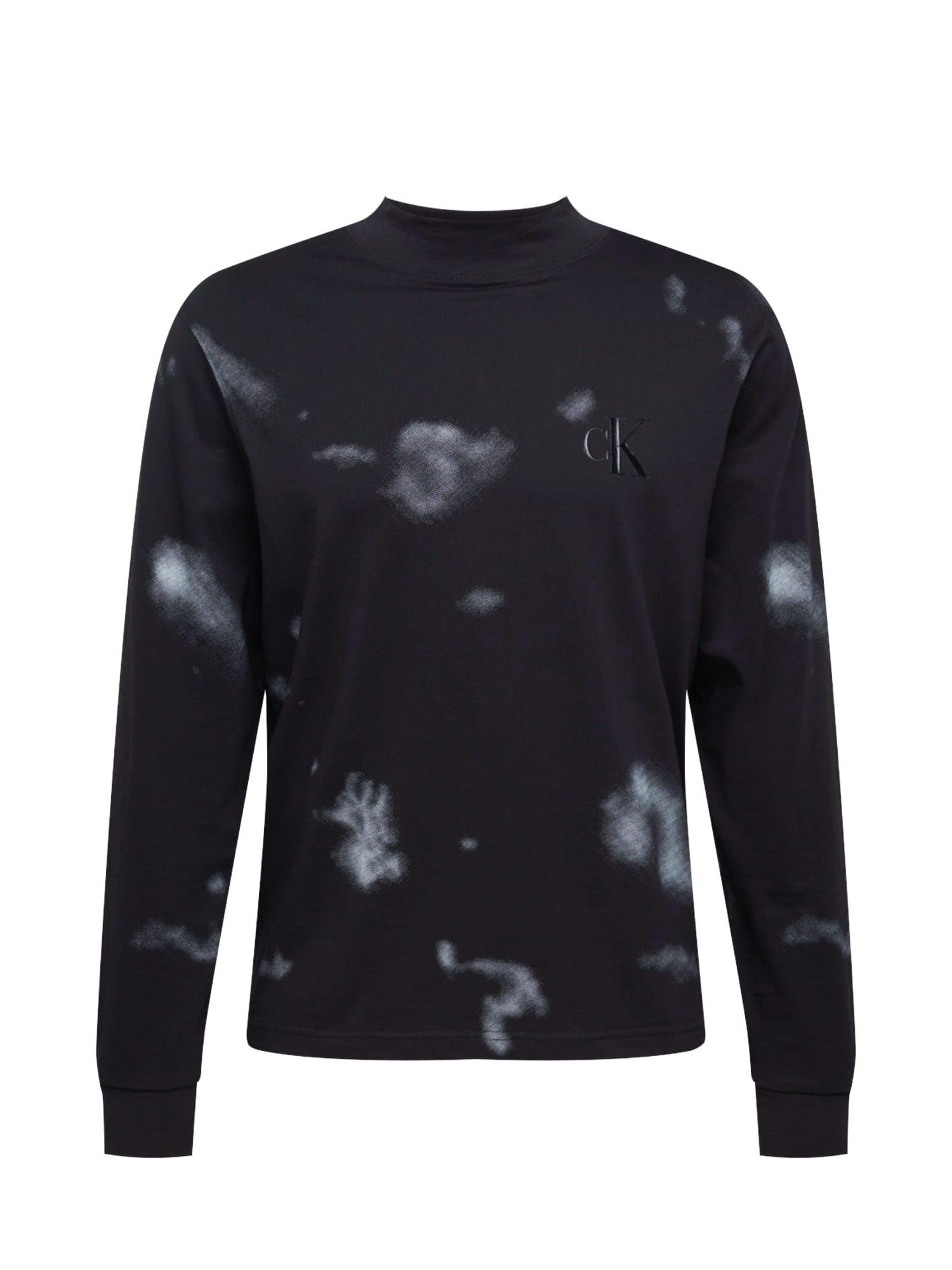Calvin Klein Jeans Tričko  černá / šedá