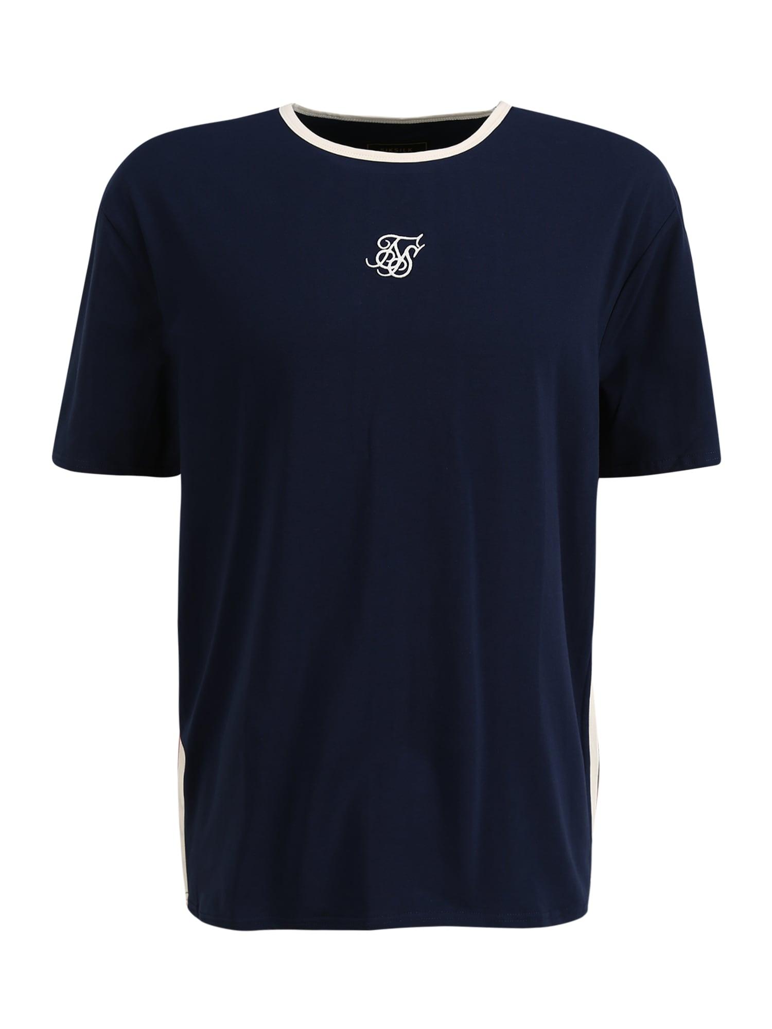 SikSilk Marškinėliai balta / melionų spalva / tamsiai mėlyna