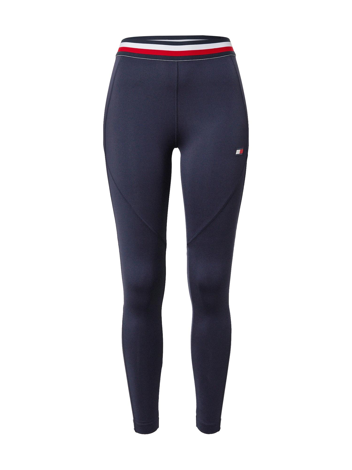 Tommy Sport Sportinės kelnės tamsiai mėlyna / raudona / balta