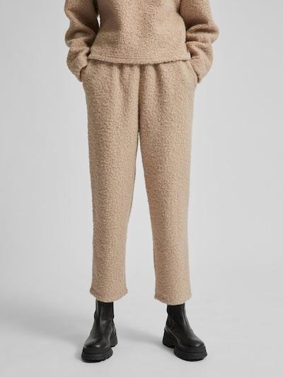 Selected Femme Halli texturierte Hose mit hoher Taille