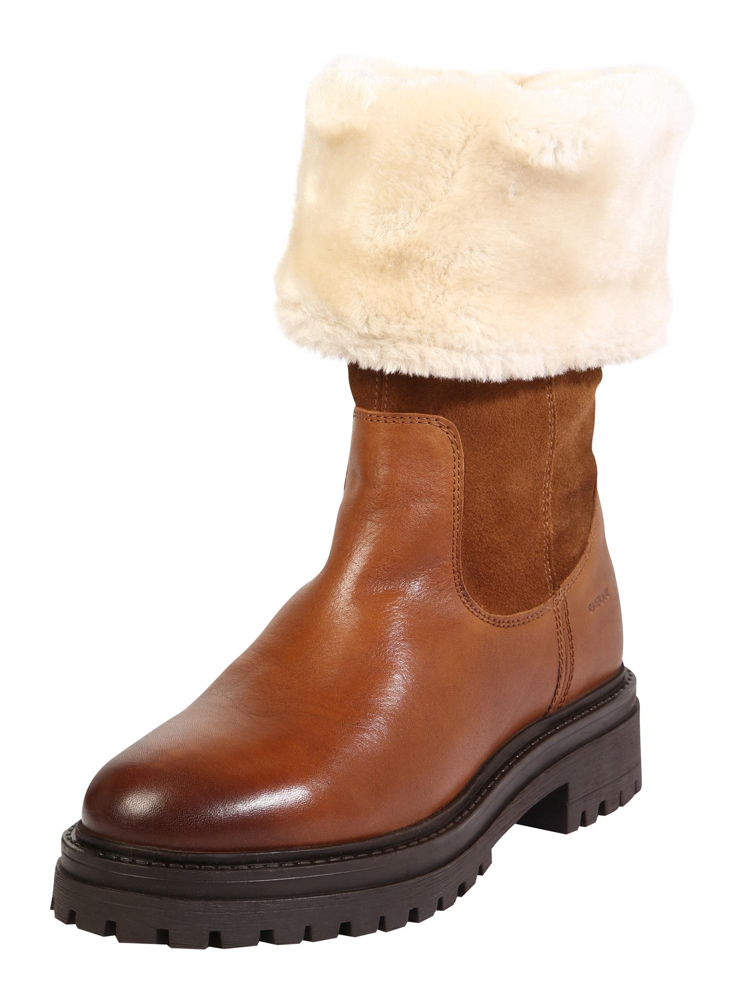 GEOX Auliniai batai su kulniuku 'Iridea' ruda (konjako)