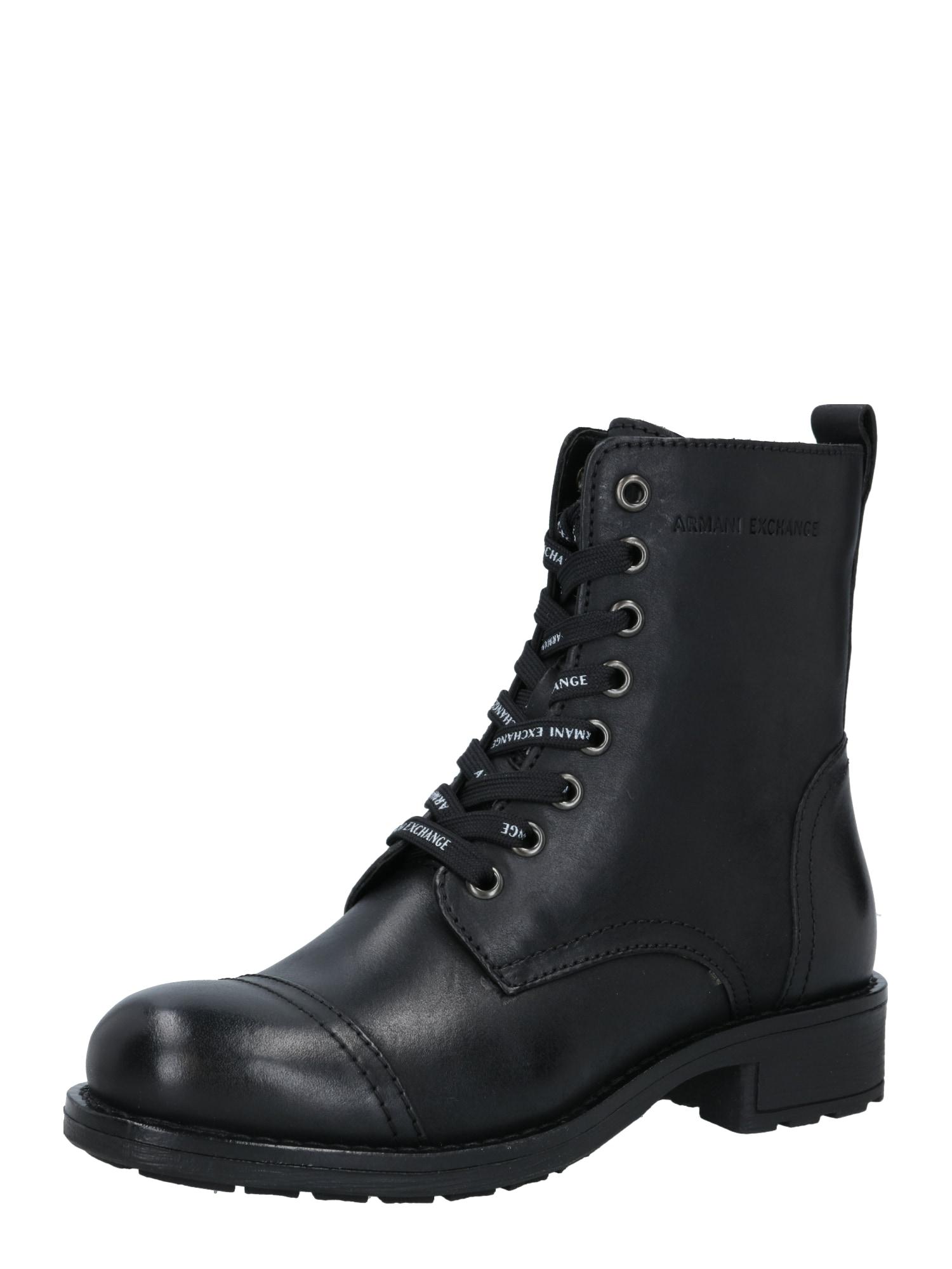 ARMANI EXCHANGE Suvarstomieji kulkšnis dengiantys batai juoda
