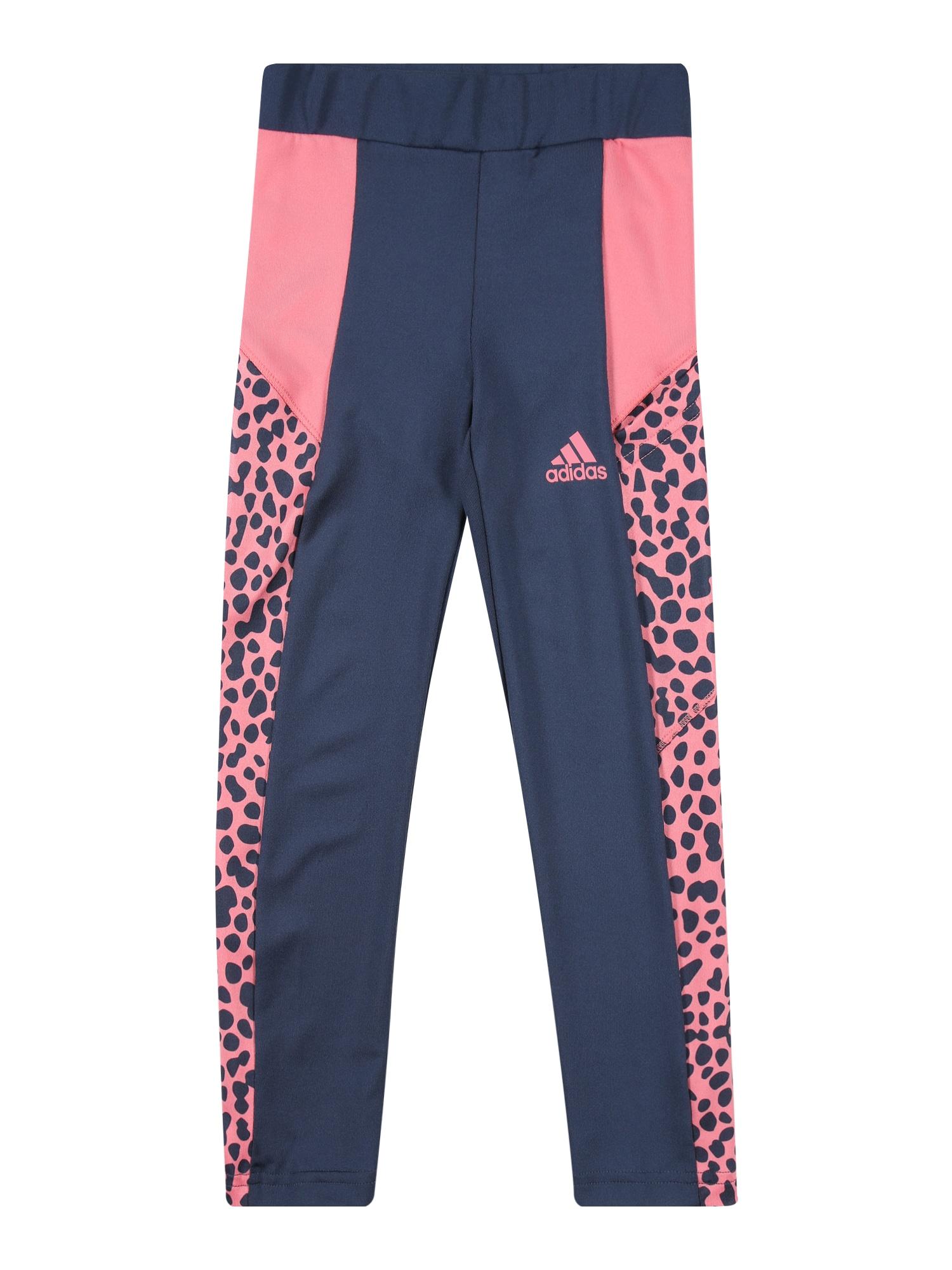 ADIDAS PERFORMANCE Sportinės kelnės rožinė / tamsiai mėlyna