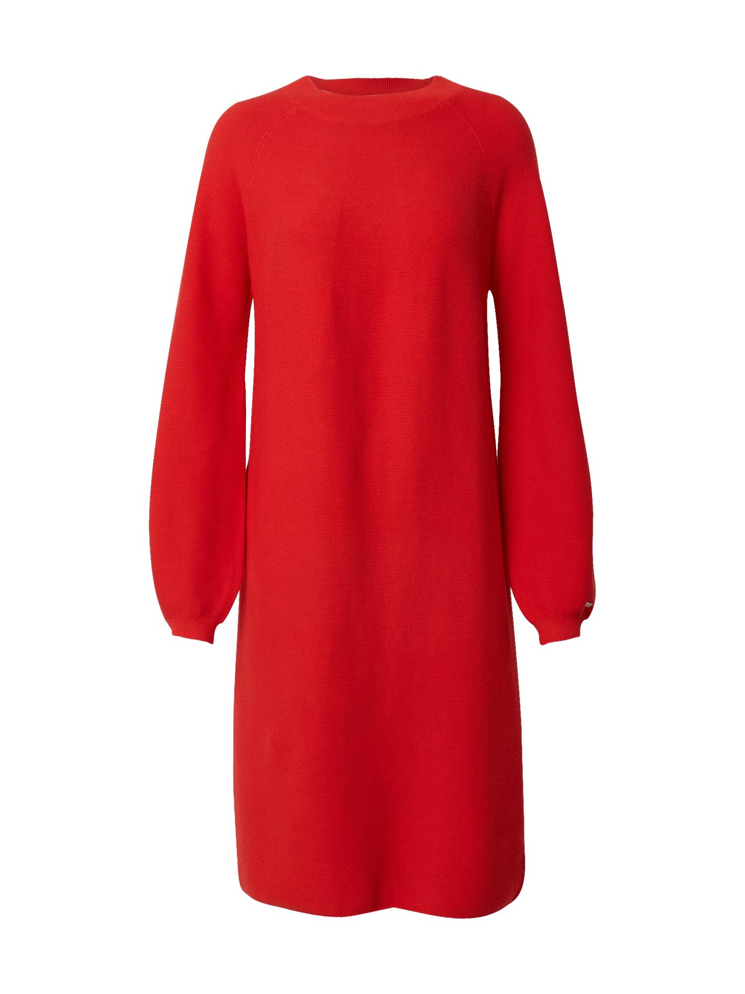 STREET ONE Úpletové šaty  červená