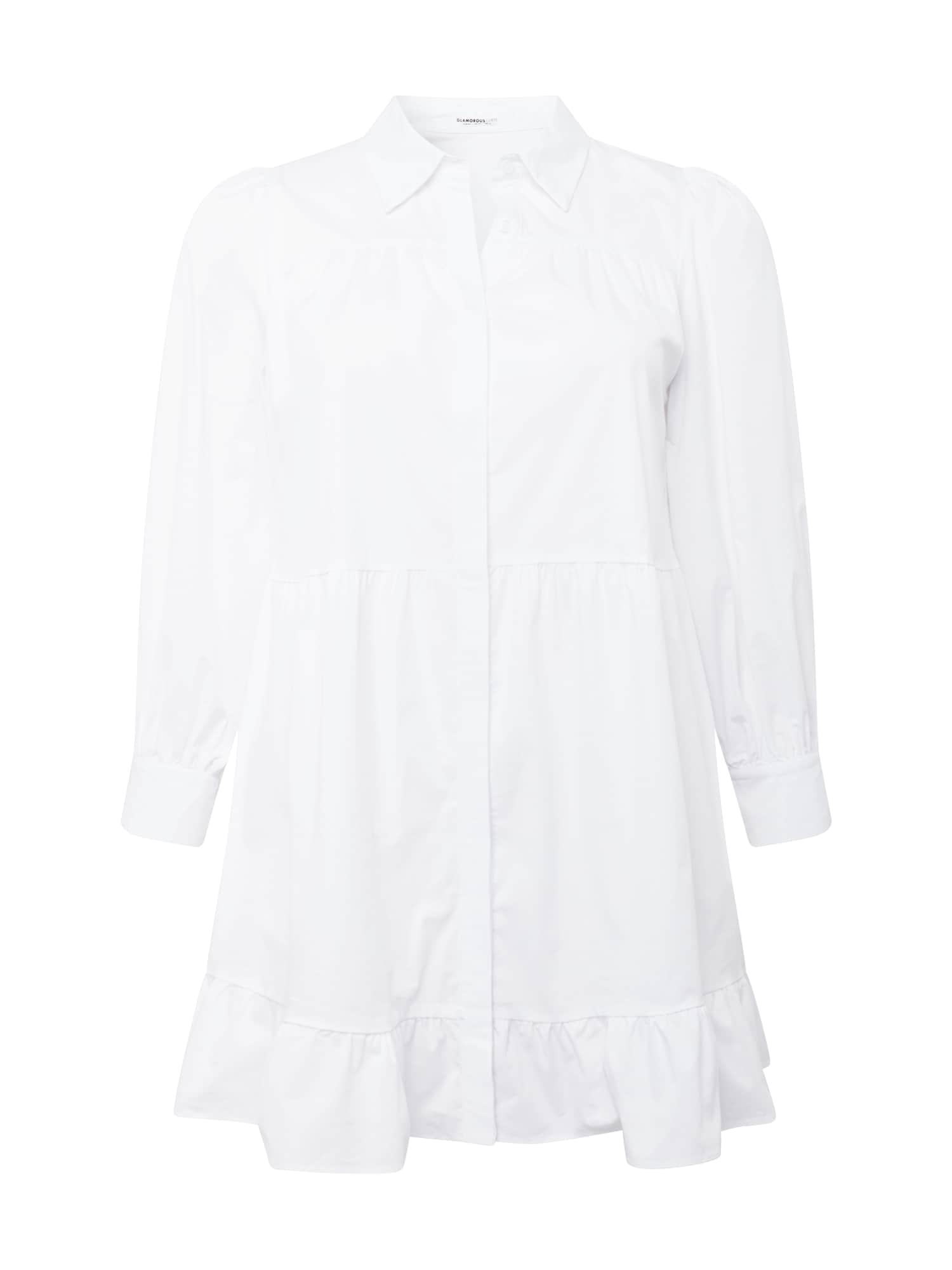 GLAMOROUS CURVE Palaidinės tipo suknelė balta