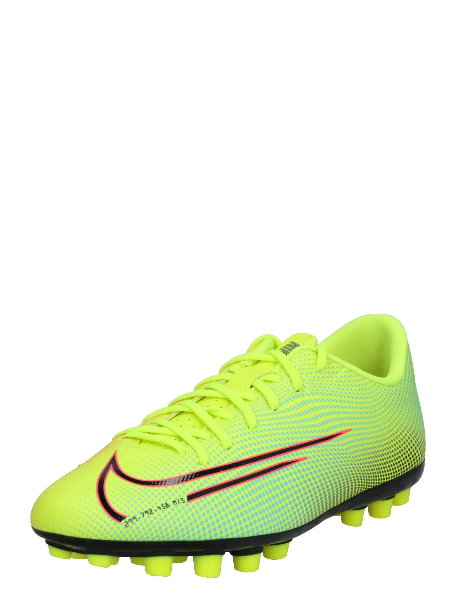 NIKE Sportiniai batai 'Mercurial Vapor 13 Academy' juoda / mėlyna / raudona / neoninė geltona