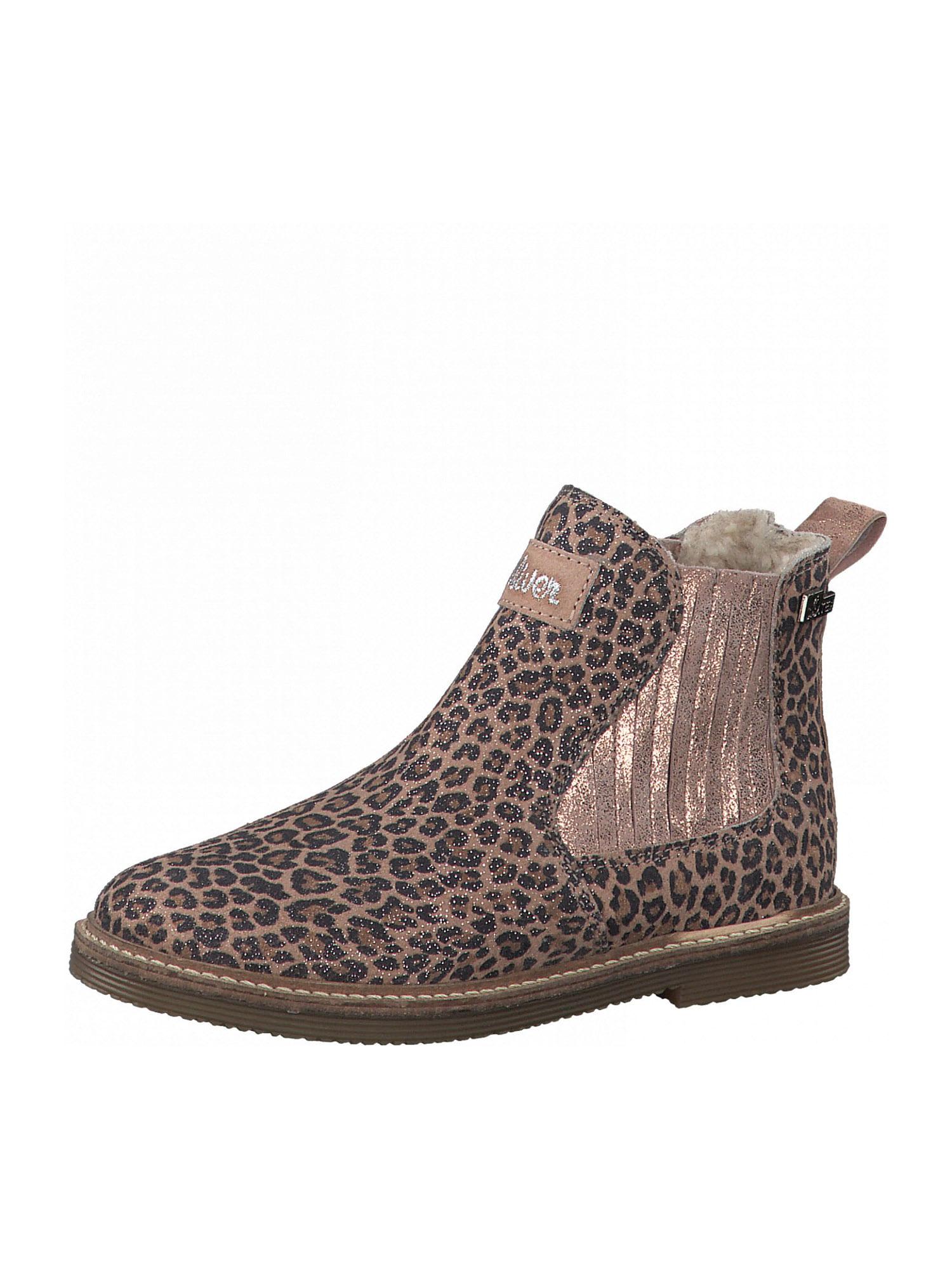 s.Oliver Junior Auliniai batai su kulniuku tamsiai smėlinė / juoda