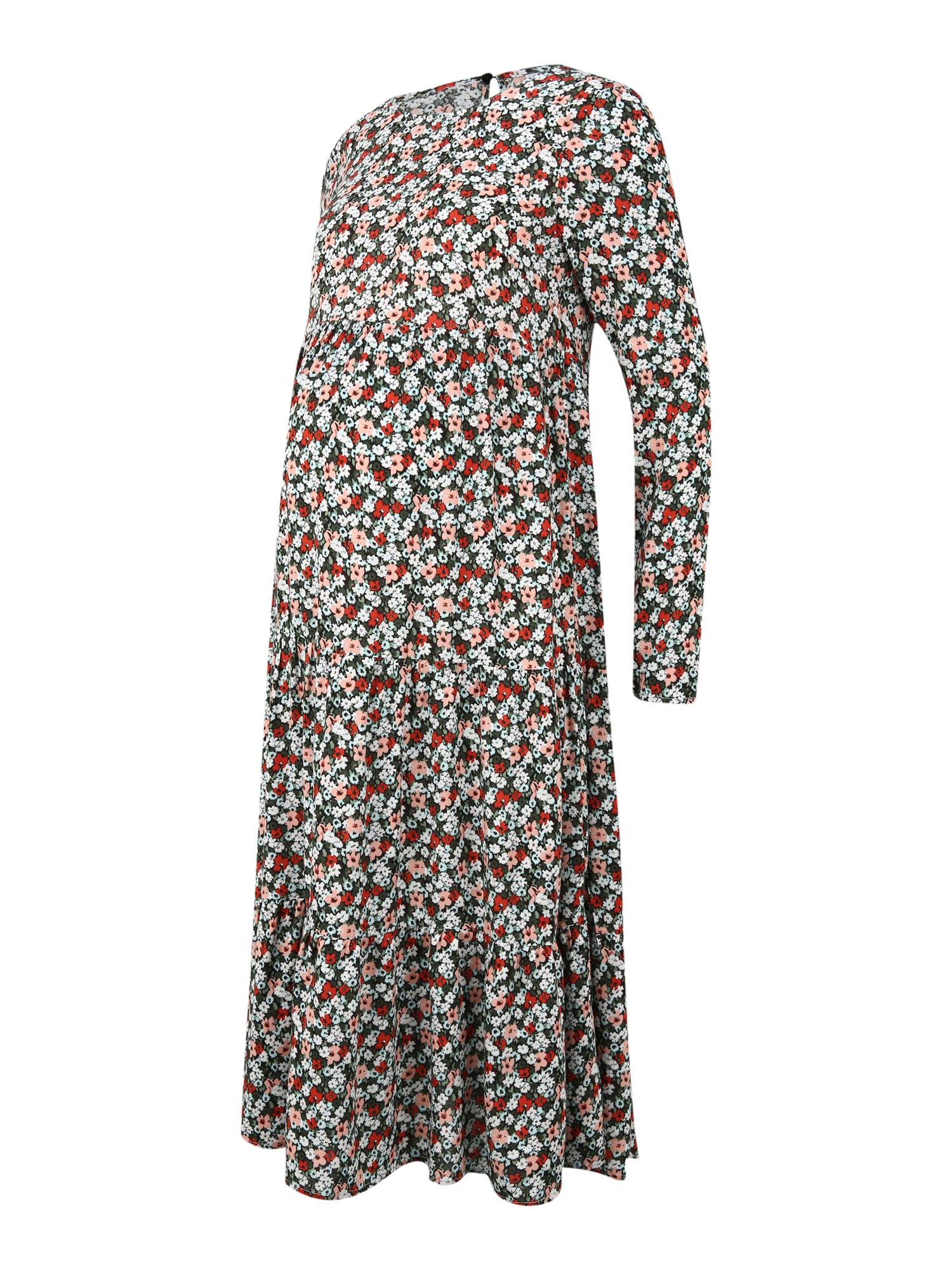 Pieces Maternity Suknelė juoda / mišrios spalvos