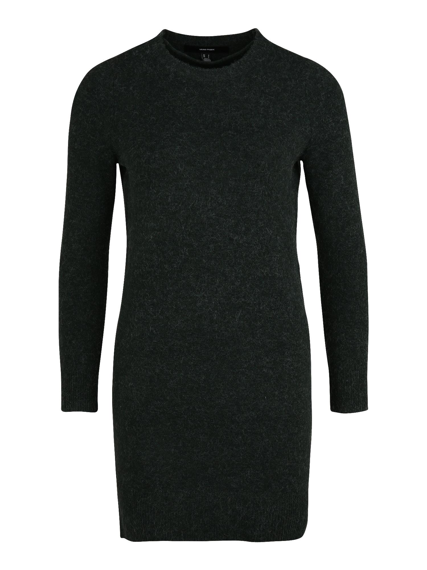 Vero Moda Petite Megzta suknelė tamsiai žalia