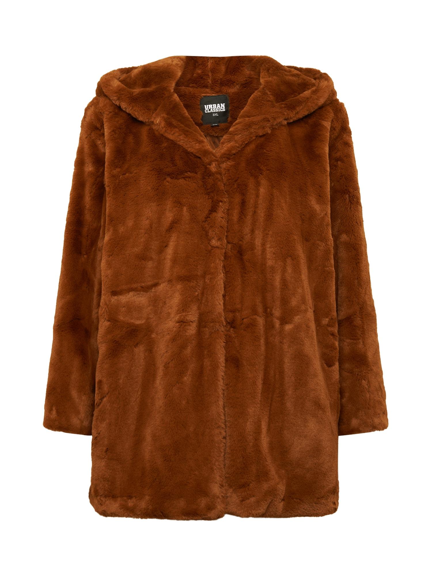 Urban Classics Curvy Přechodný kabát  hnědá