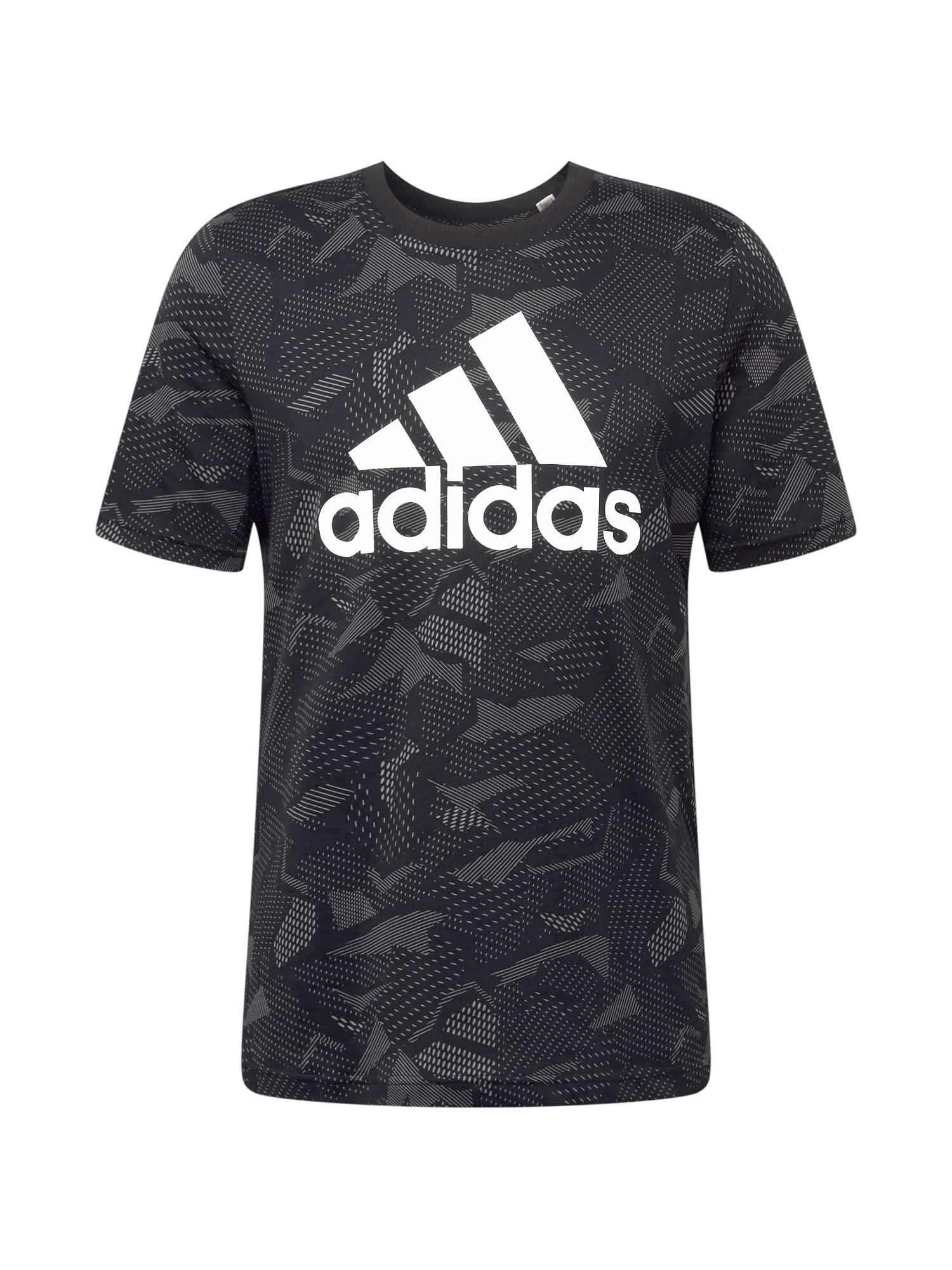 ADIDAS PERFORMANCE Funkční tričko  šedá / černá / bílá