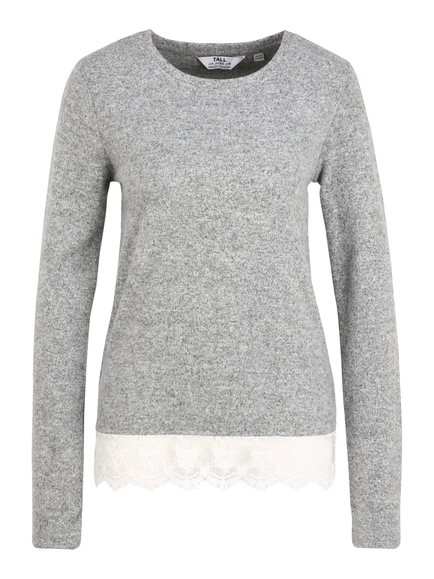 Dorothy Perkins (Tall) Marškinėliai margai pilka / balta