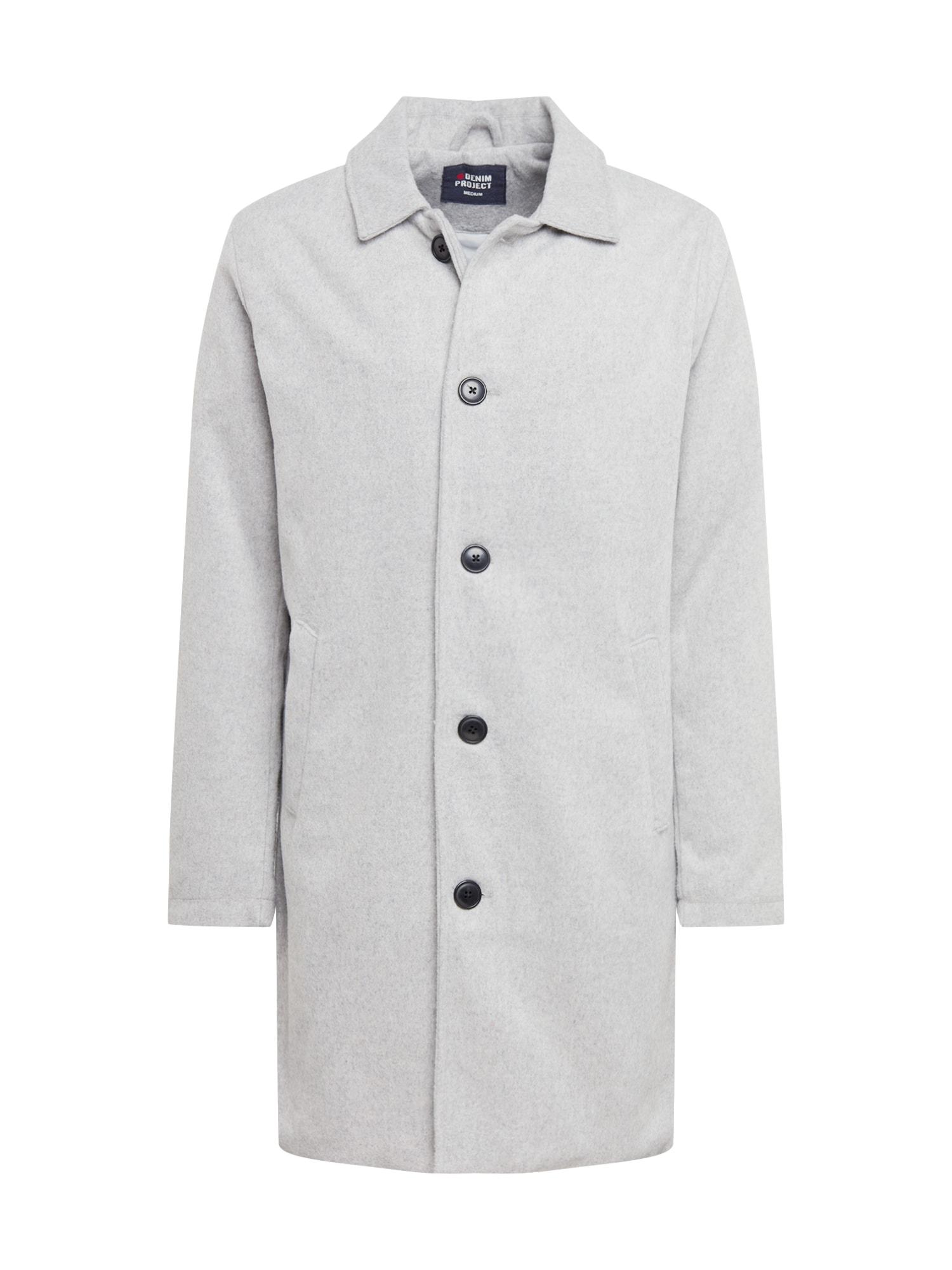 Denim Project Přechodný kabát  šedá