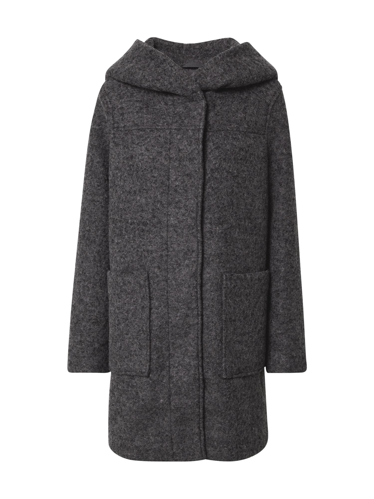 TOM TAILOR DENIM Demisezoninis paltas tamsiai pilka