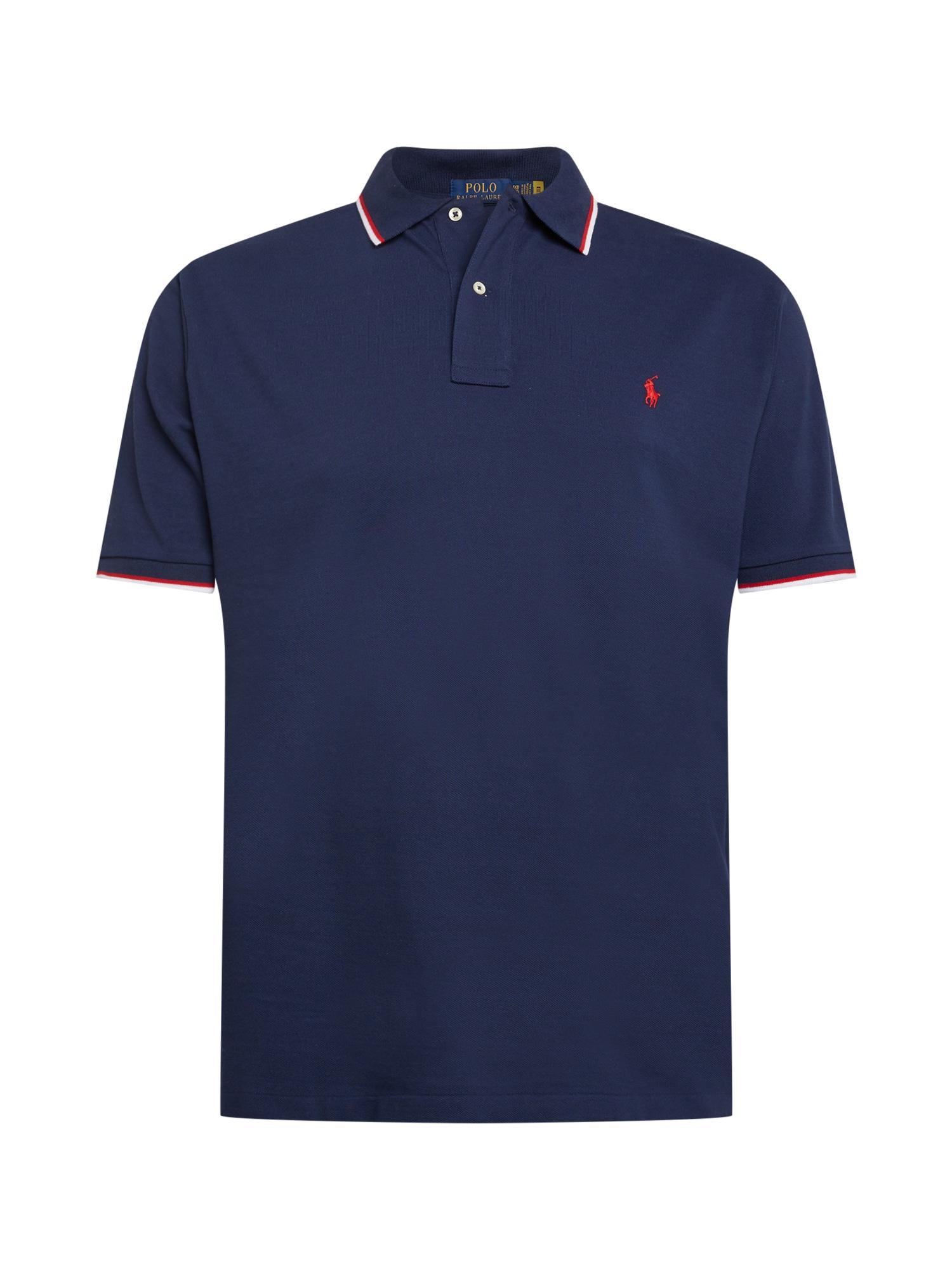 Polo Ralph Lauren Big & Tall Marškinėliai tamsiai mėlyna / balta / raudona
