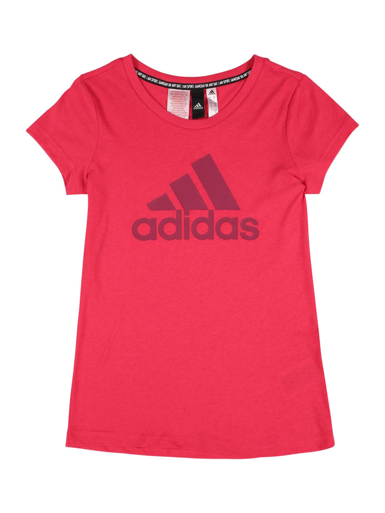 ADIDAS PERFORMANCE Sportiniai marškinėliai rožinė / eozino spalva
