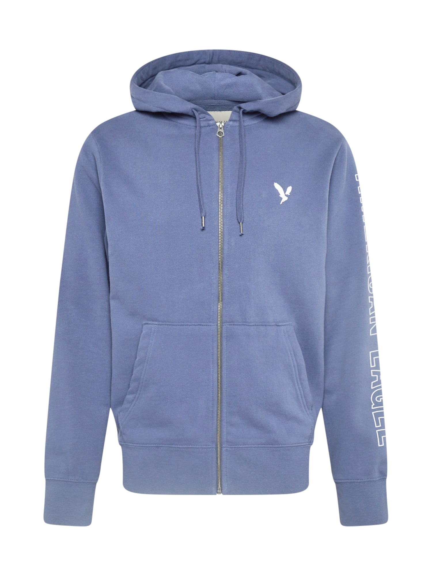 American Eagle Džemperis mėlyna dūmų spalva / balta