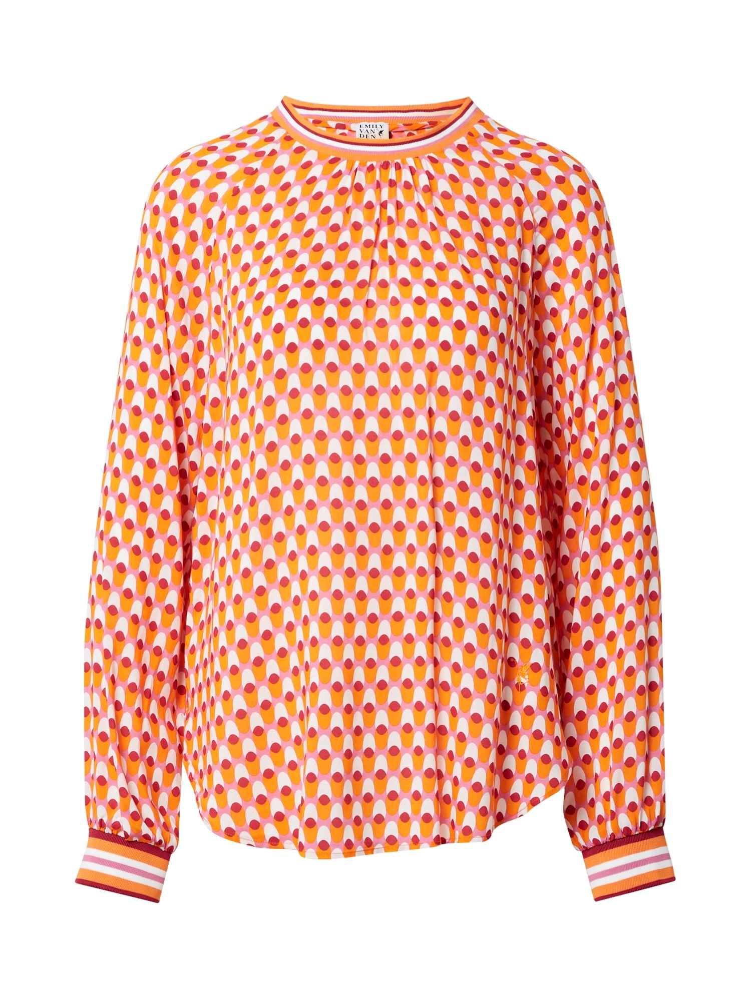 Emily Van Den Bergh Palaidinė šviesiai rožinė / šviesiai oranžinė / pitajų spalva / balta