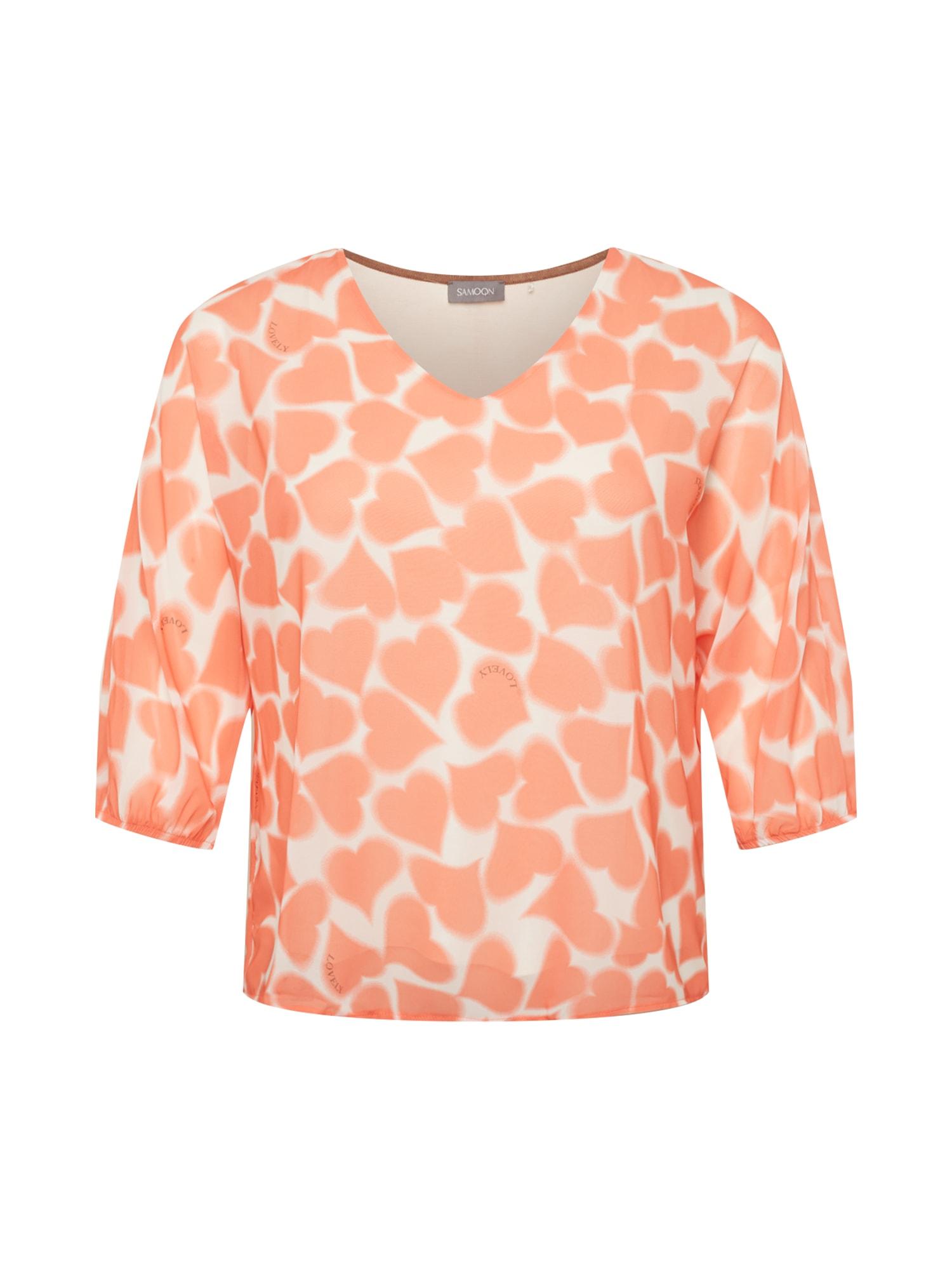 SAMOON Marškinėliai oranžinė / balta