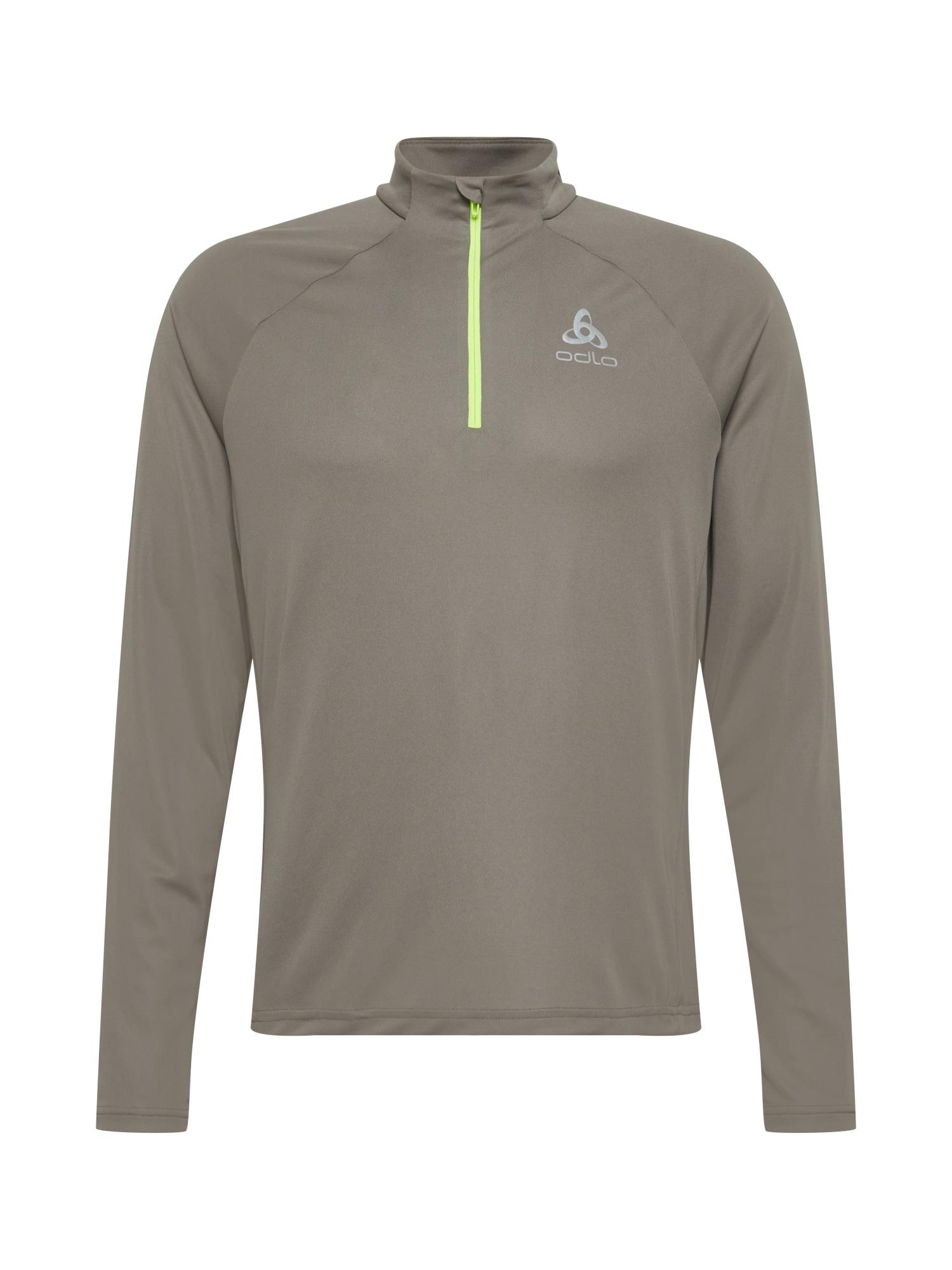 ODLO Sportiniai marškinėliai rausvai pilka / geltona