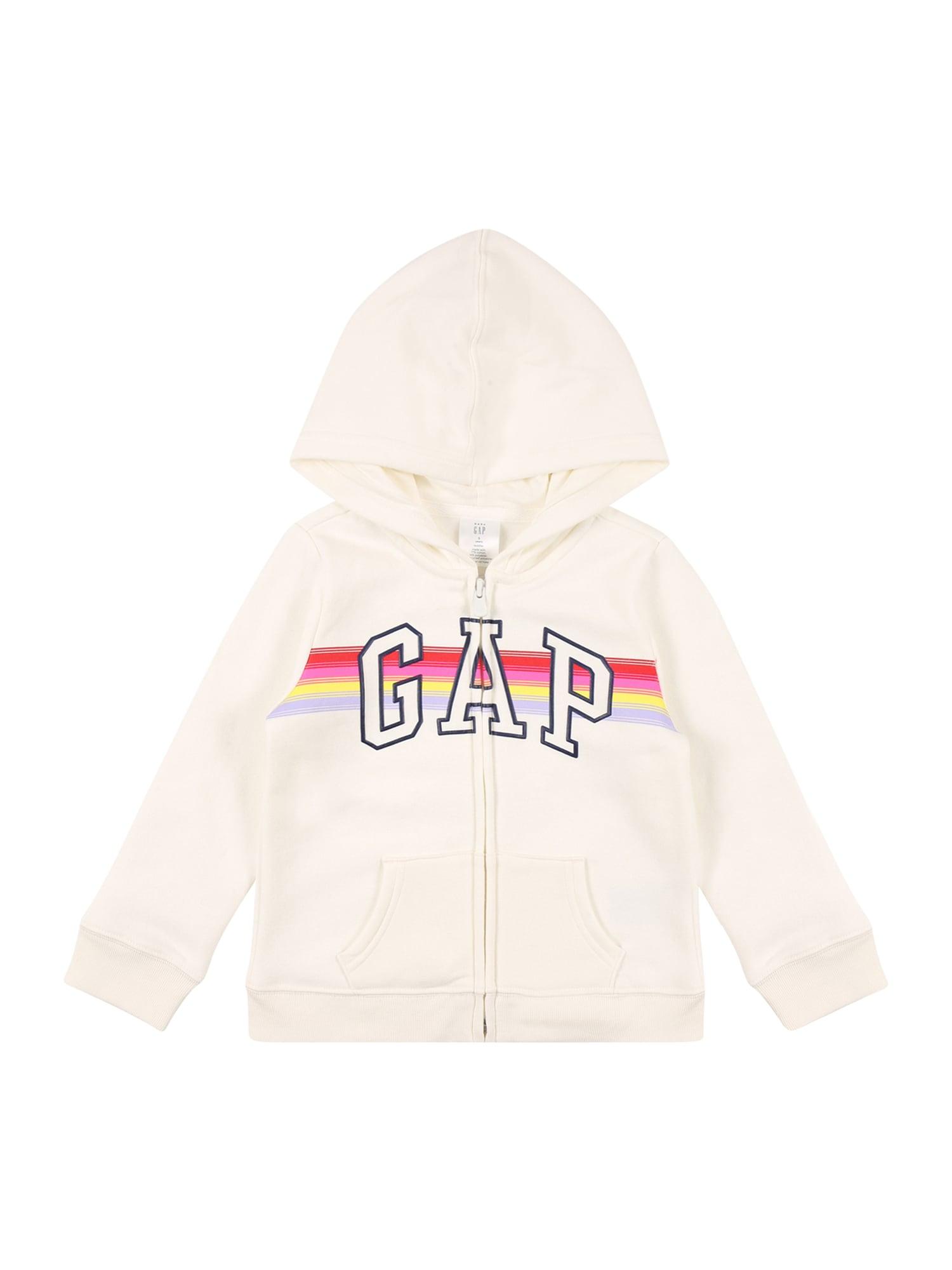GAP Džemperis balta / šviesiai raudona / juoda / žaliosios citrinos spalva / tamsiai rožinė