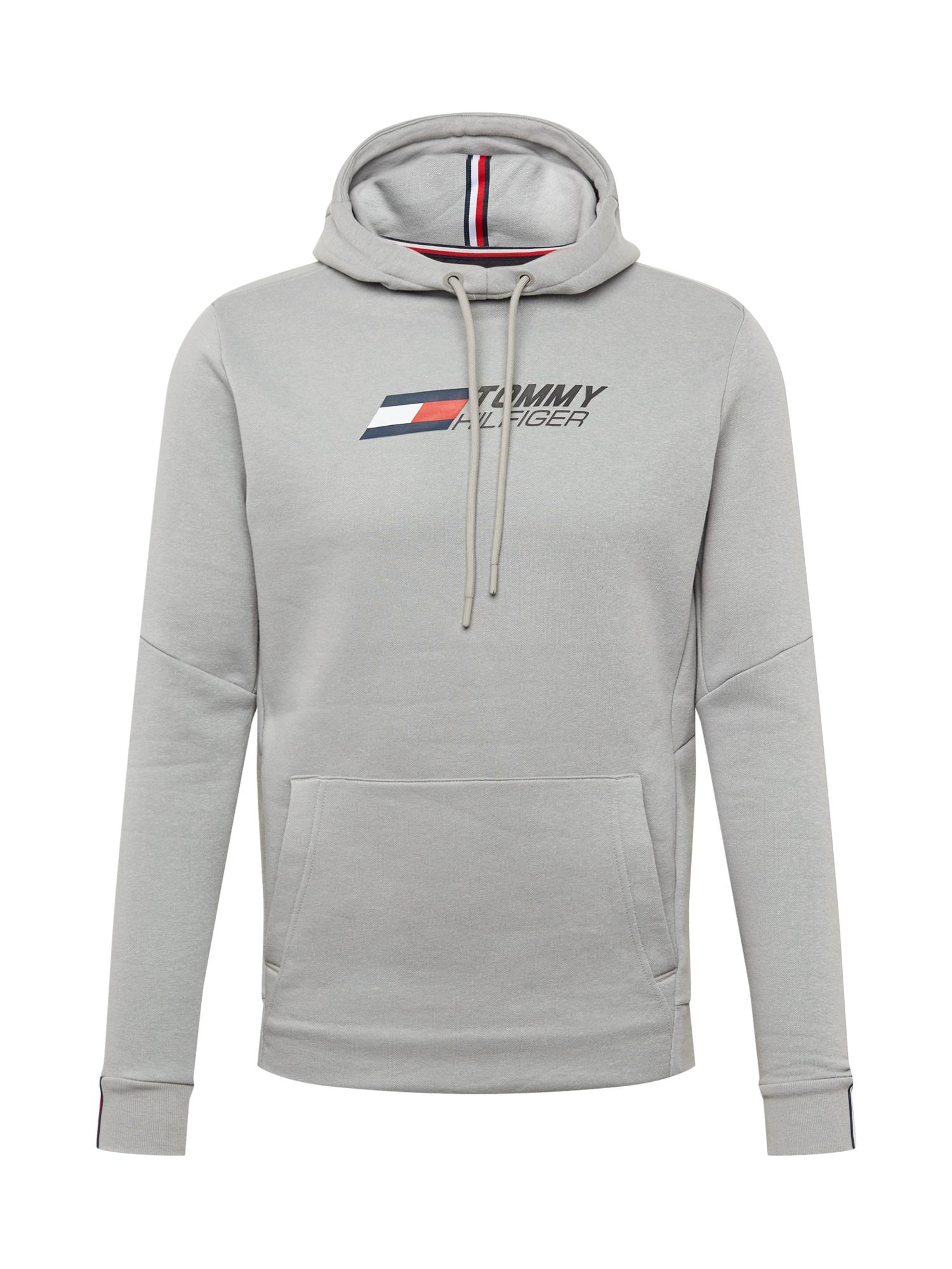 Tommy Sport Sportinio tipo megztinis pilka / tamsiai mėlyna / raudona / balta