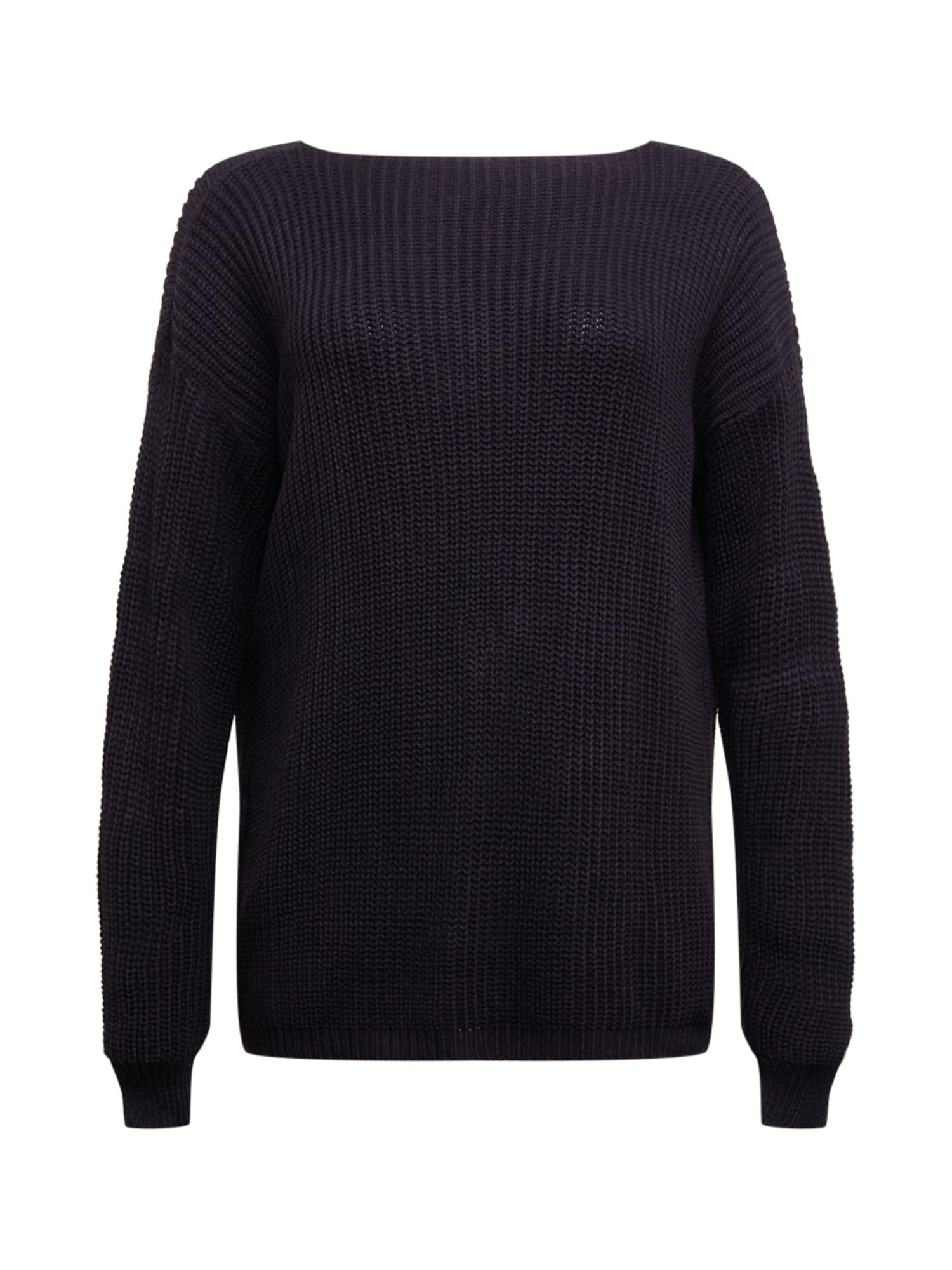 GLAMOROUS CURVE Laisvas megztinis juoda