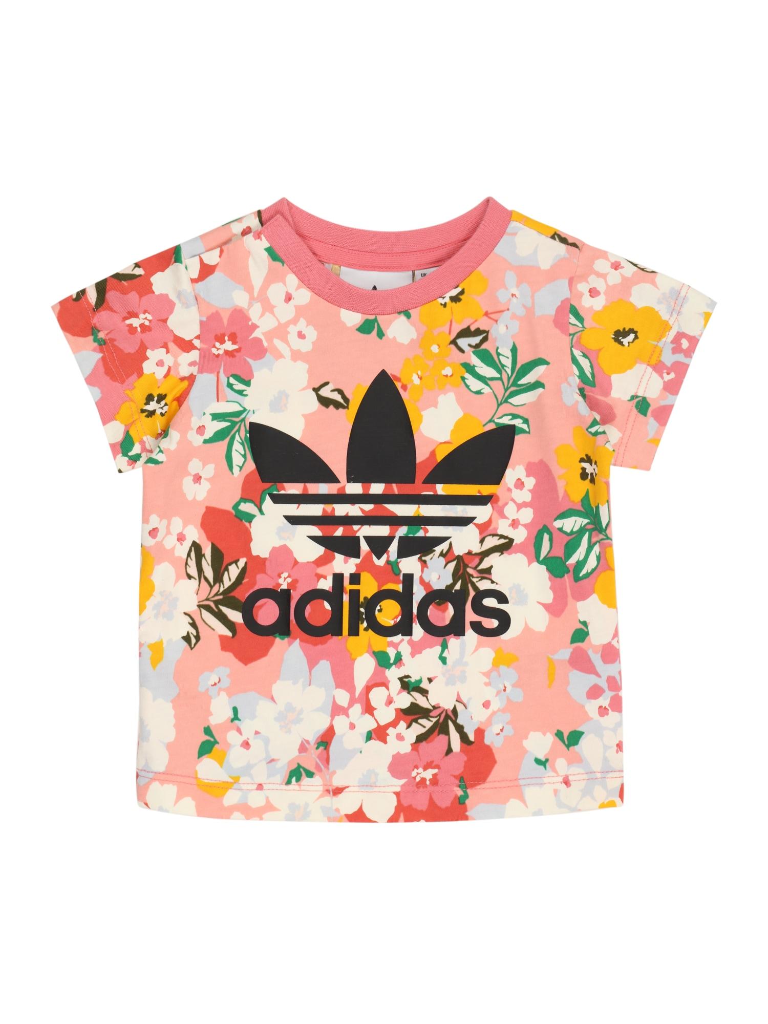 ADIDAS ORIGINALS Marškinėliai rožinė / juoda / balta / geltona / mėlyna