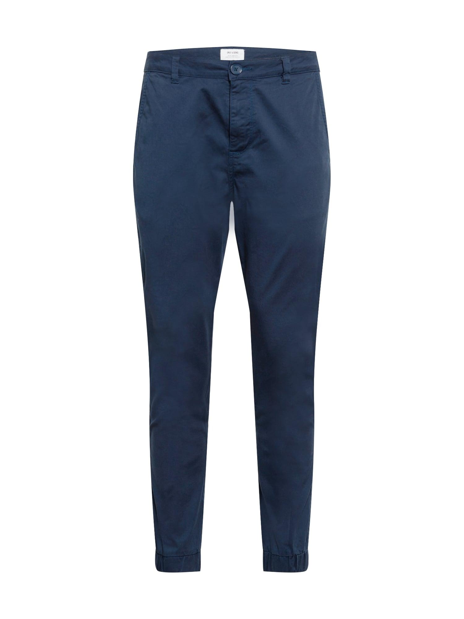 Only & Sons Chino kalhoty 'CAM'  marine modrá