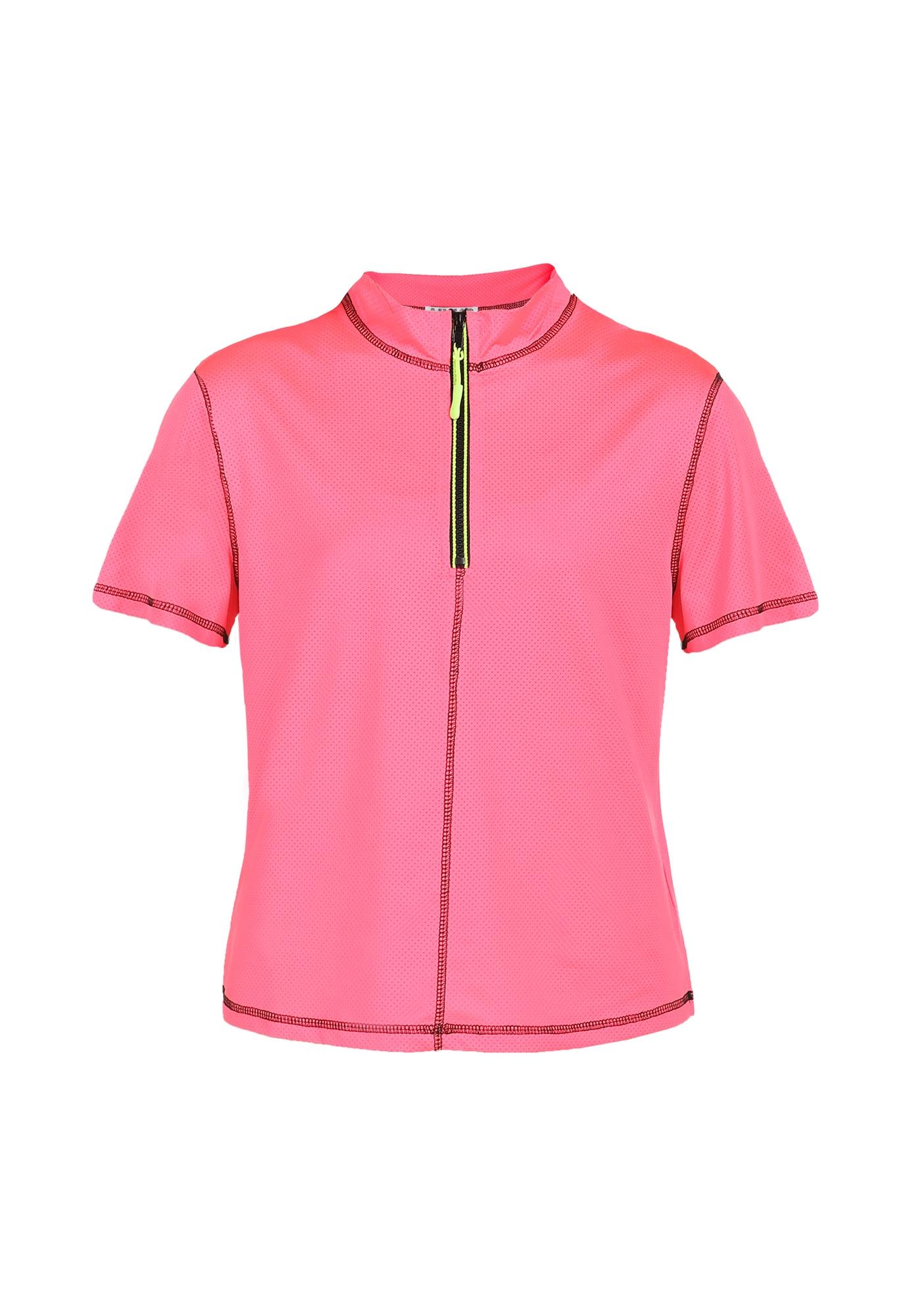 myMo ATHLSR Sportiniai marškinėliai neoninė rožinė / tamsiai rožinė / neoninė geltona