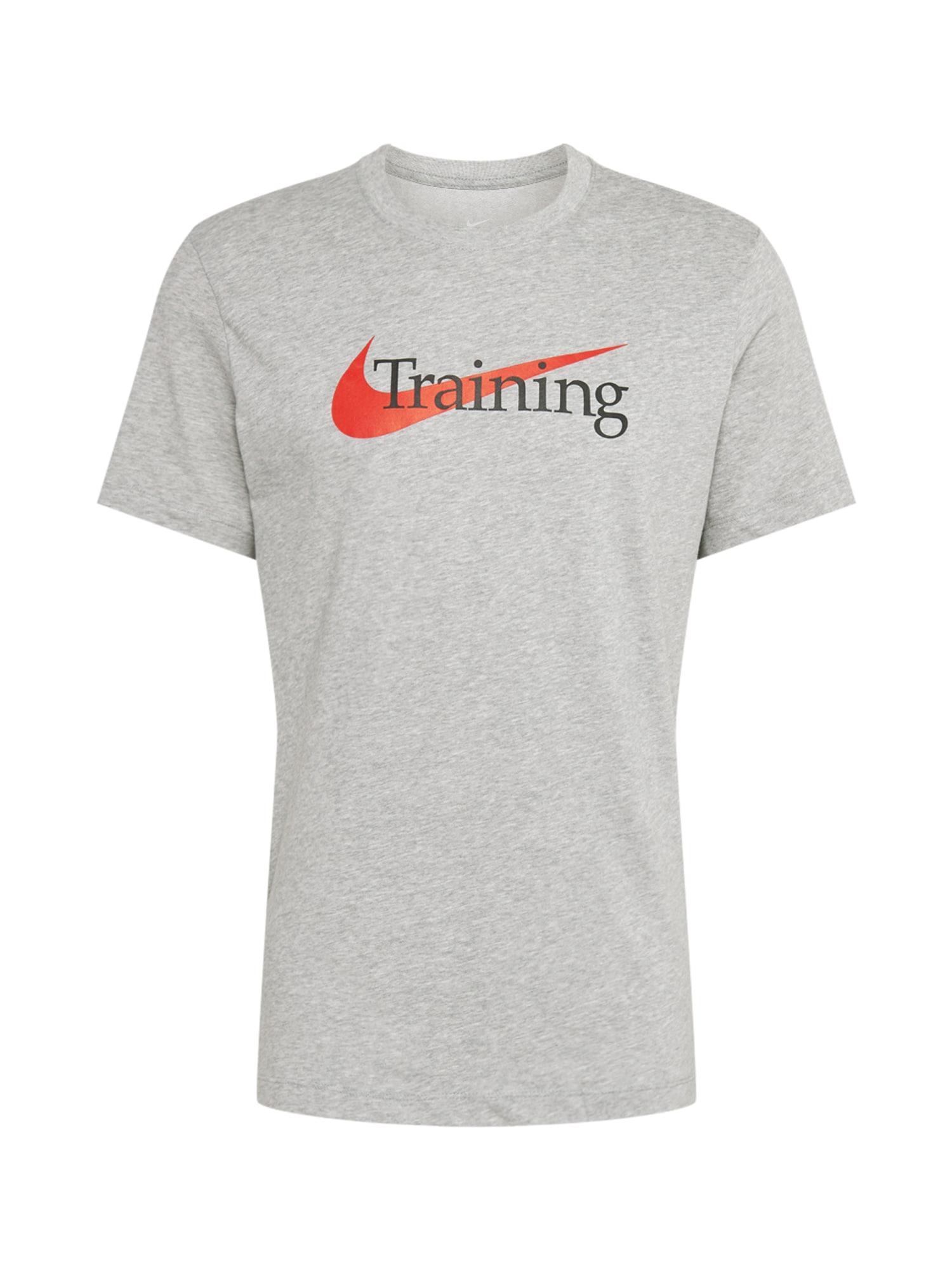 NIKE Funkční tričko  červená / tmavě šedá