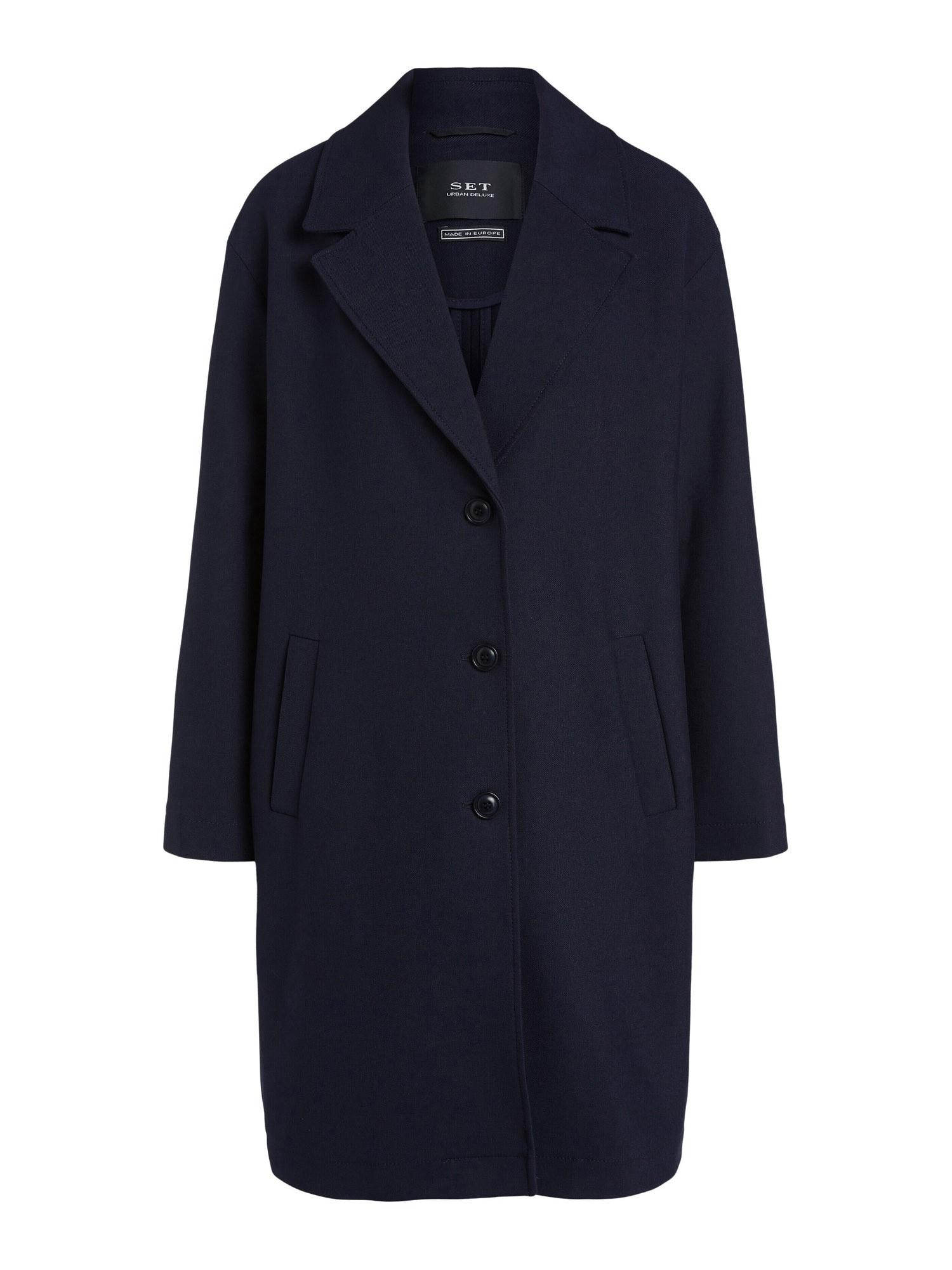 SET Demisezoninis paltas tamsiai mėlyna
