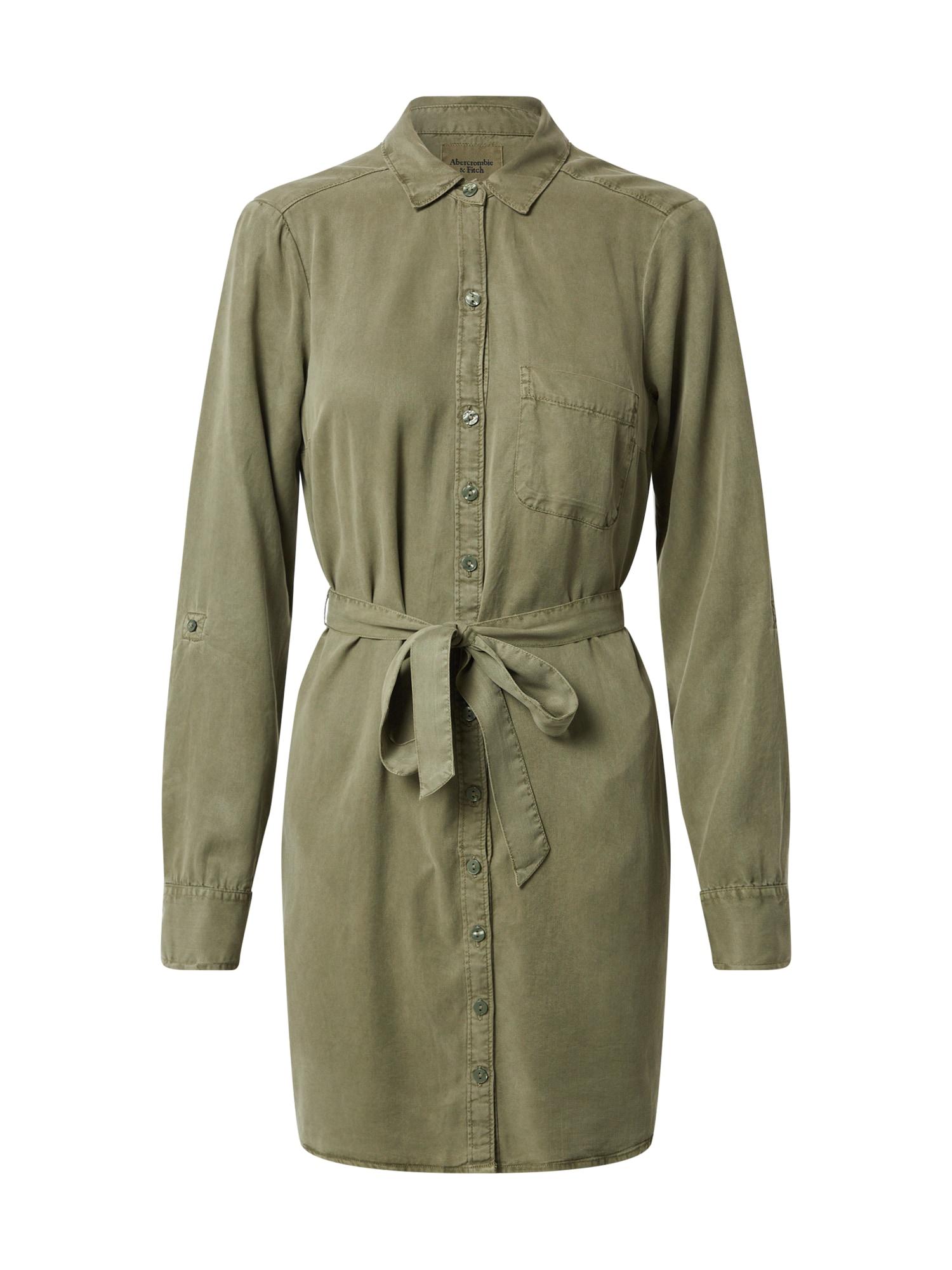 Abercrombie & Fitch Palaidinės tipo suknelė alyvuogių spalva