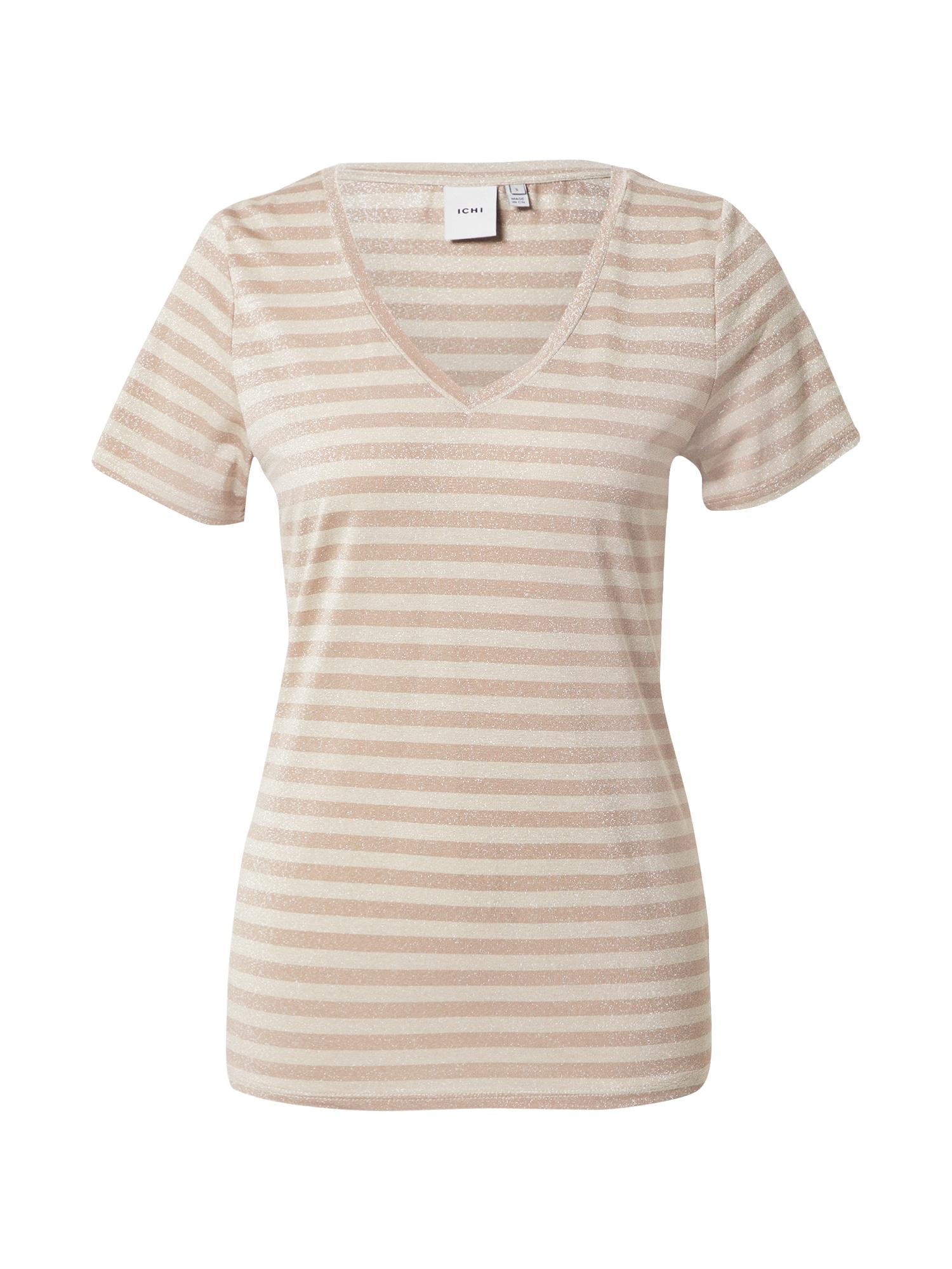 ICHI Marškinėliai kremo / balta