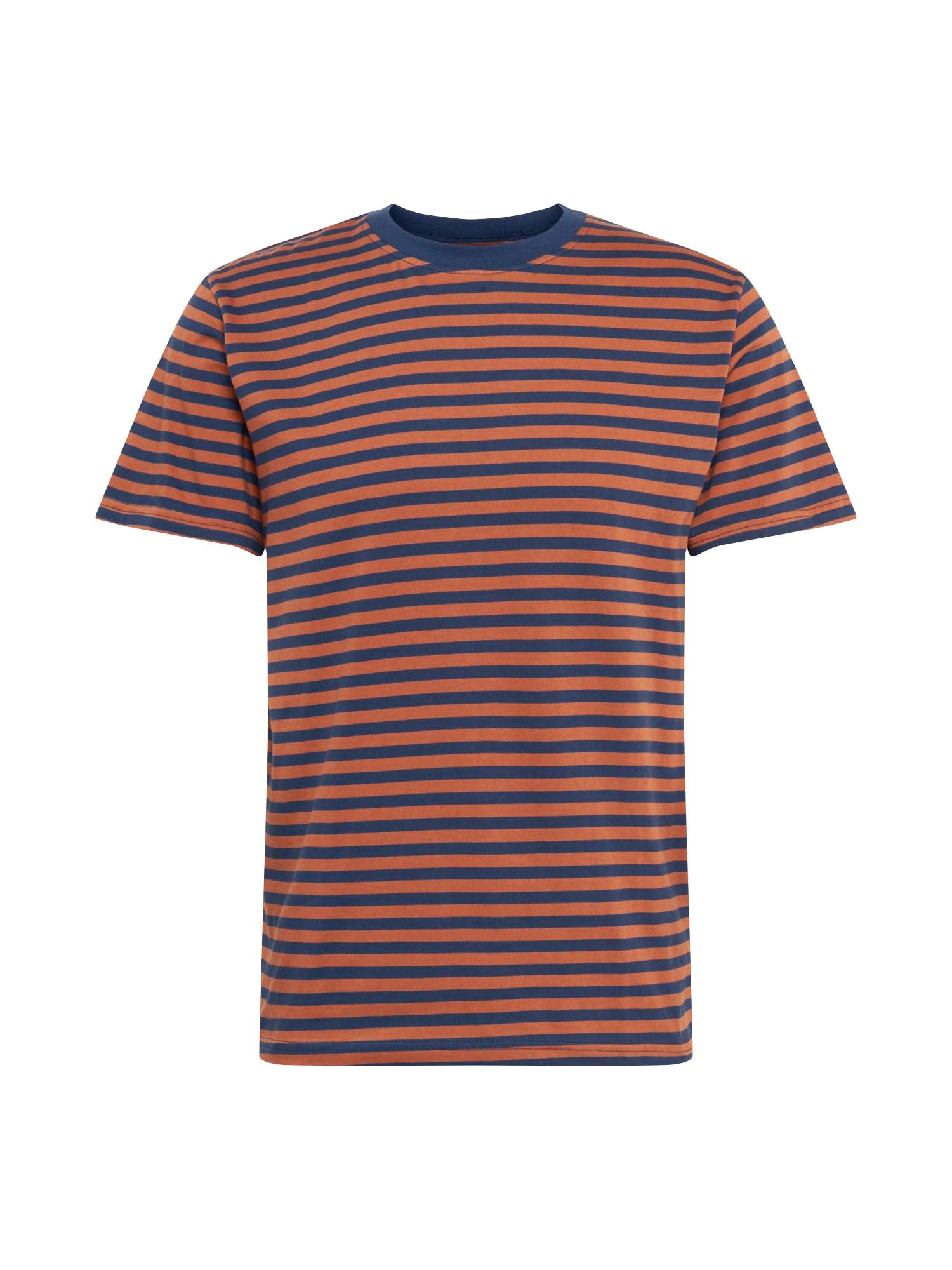 DEDICATED. Tričko 'Stockholm'  rezavě hnědá / námořnická modř