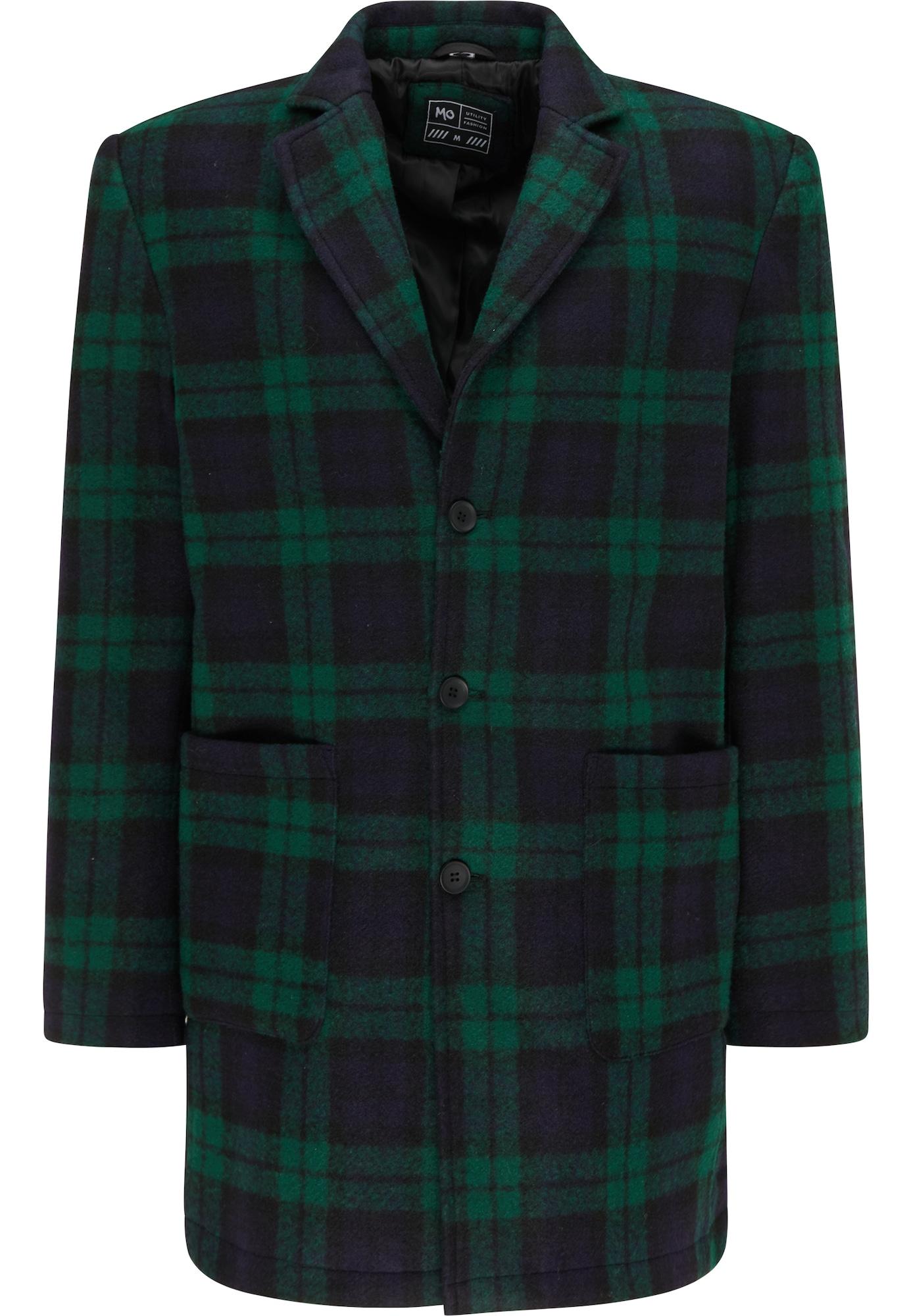 MO Demisezoninis paltas nakties mėlyna / tamsiai mėlyna / tamsiai žalia