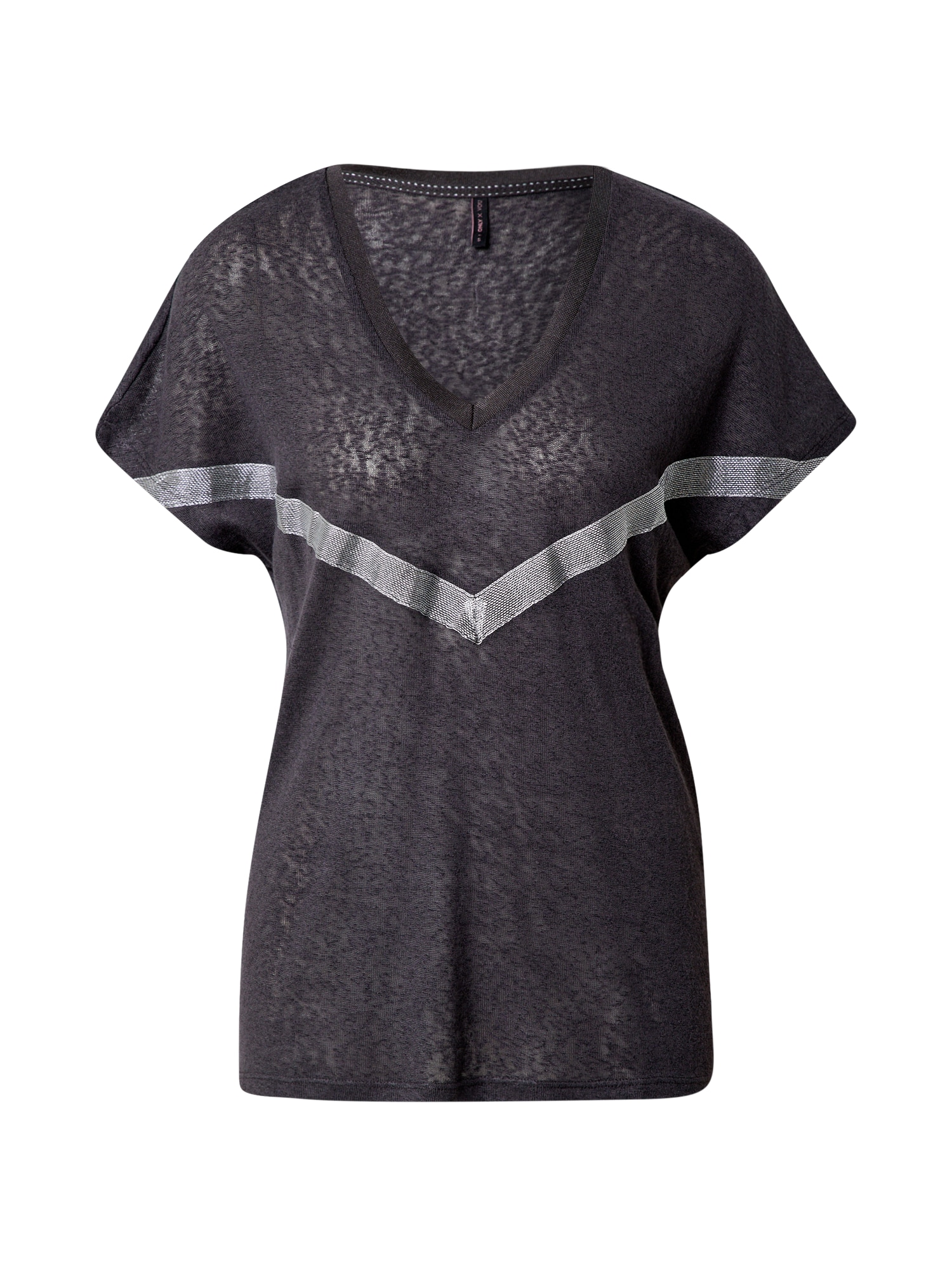 ONLY Tričko 'Rita'  tmavě šedá / stříbrná