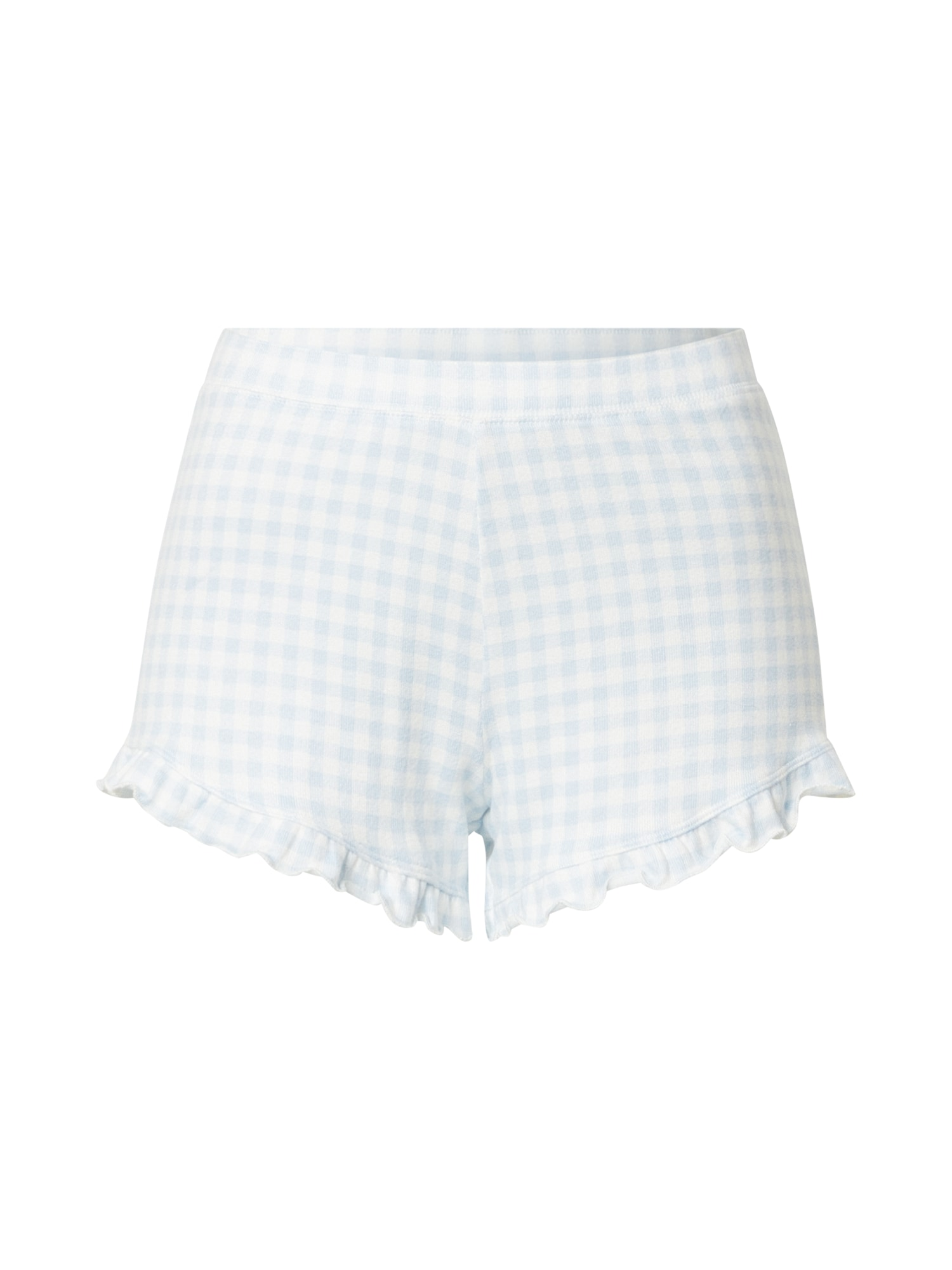 HOLLISTER Pyžamové nohavice  svetlomodrá / biela