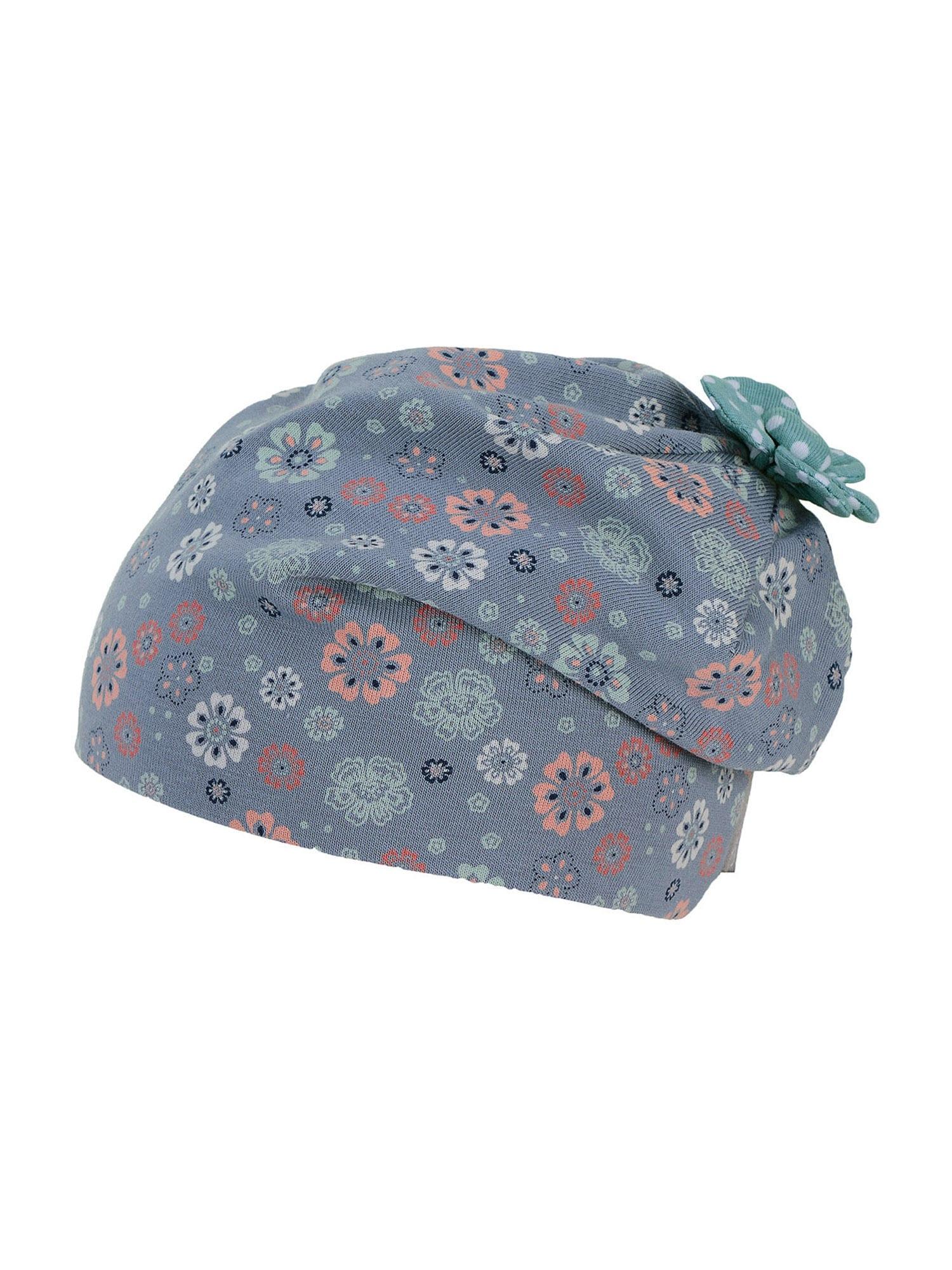 STERNTALER Megzta kepurė pastelinė mėlyna / opalo / abrikosų spalva / tamsiai mėlyna