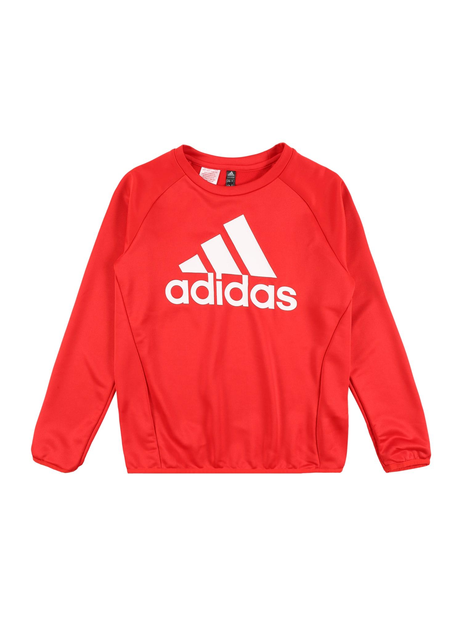 ADIDAS PERFORMANCE Sportinio tipo megztinis raudona / balta