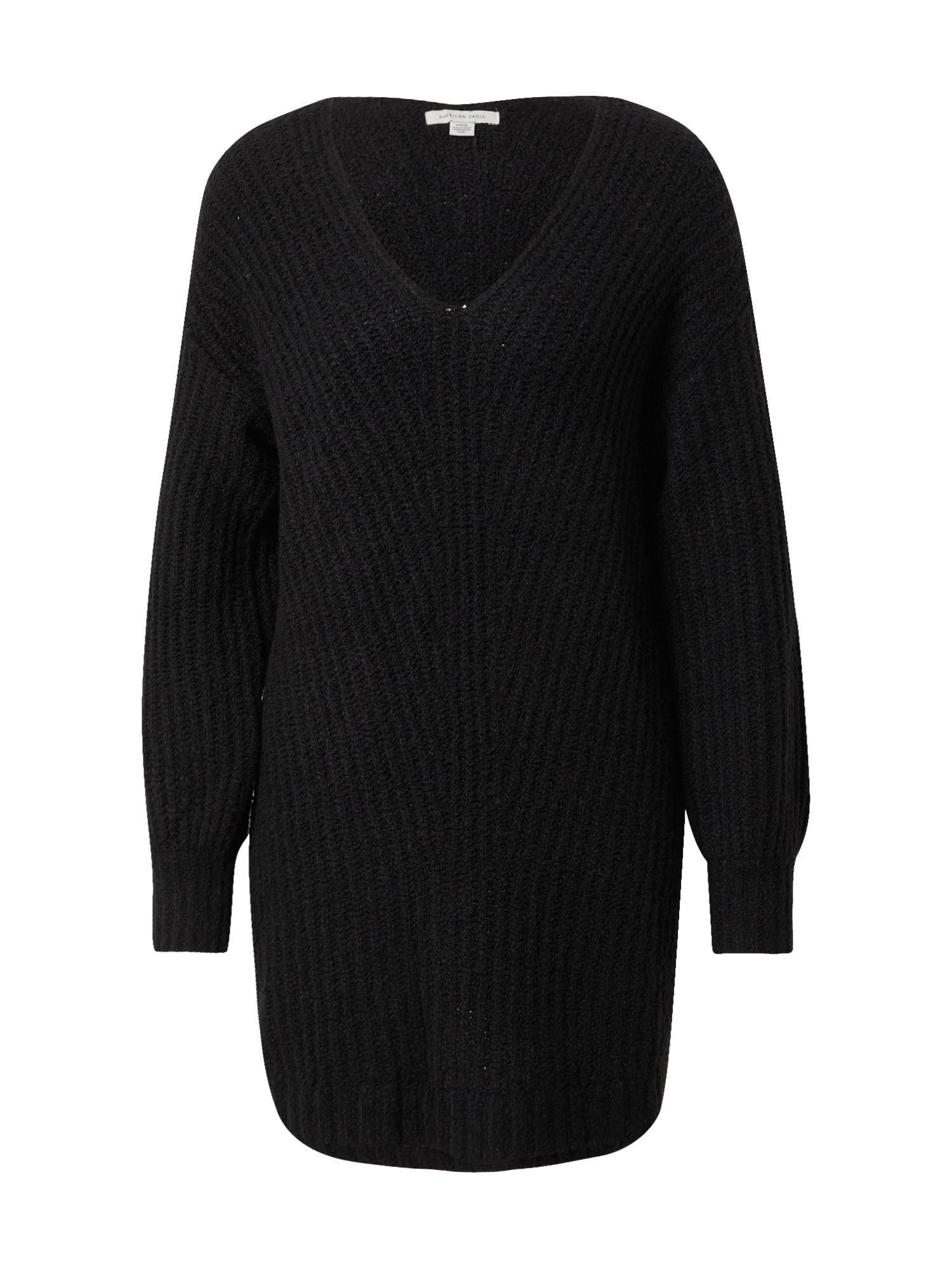 American Eagle Megzta suknelė juoda