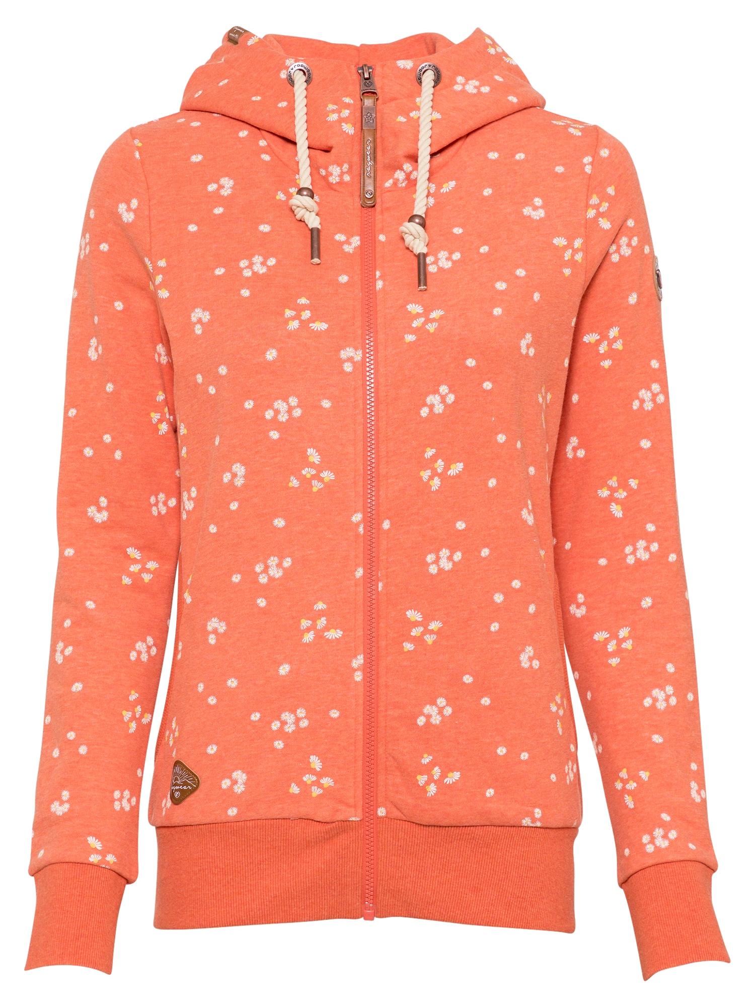 Ragwear Džemperis oranžinė-raudona / balta / geltona