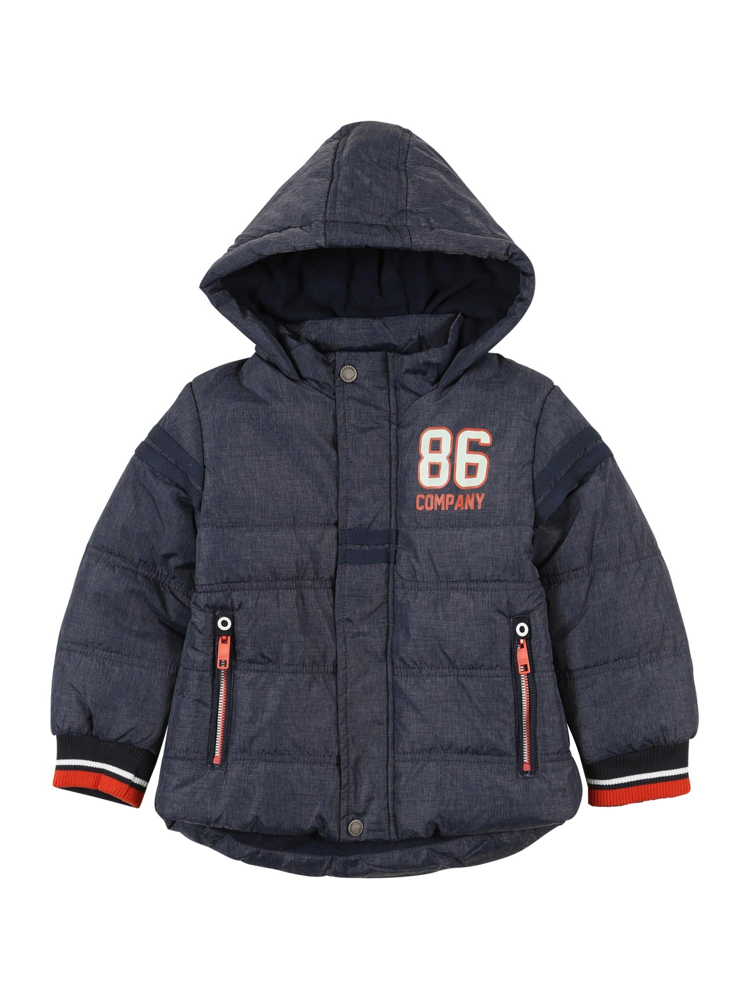 LEMON BERET Žieminė striukė 'Small Boys' melsvai pilka / balta / juoda / oranžinė
