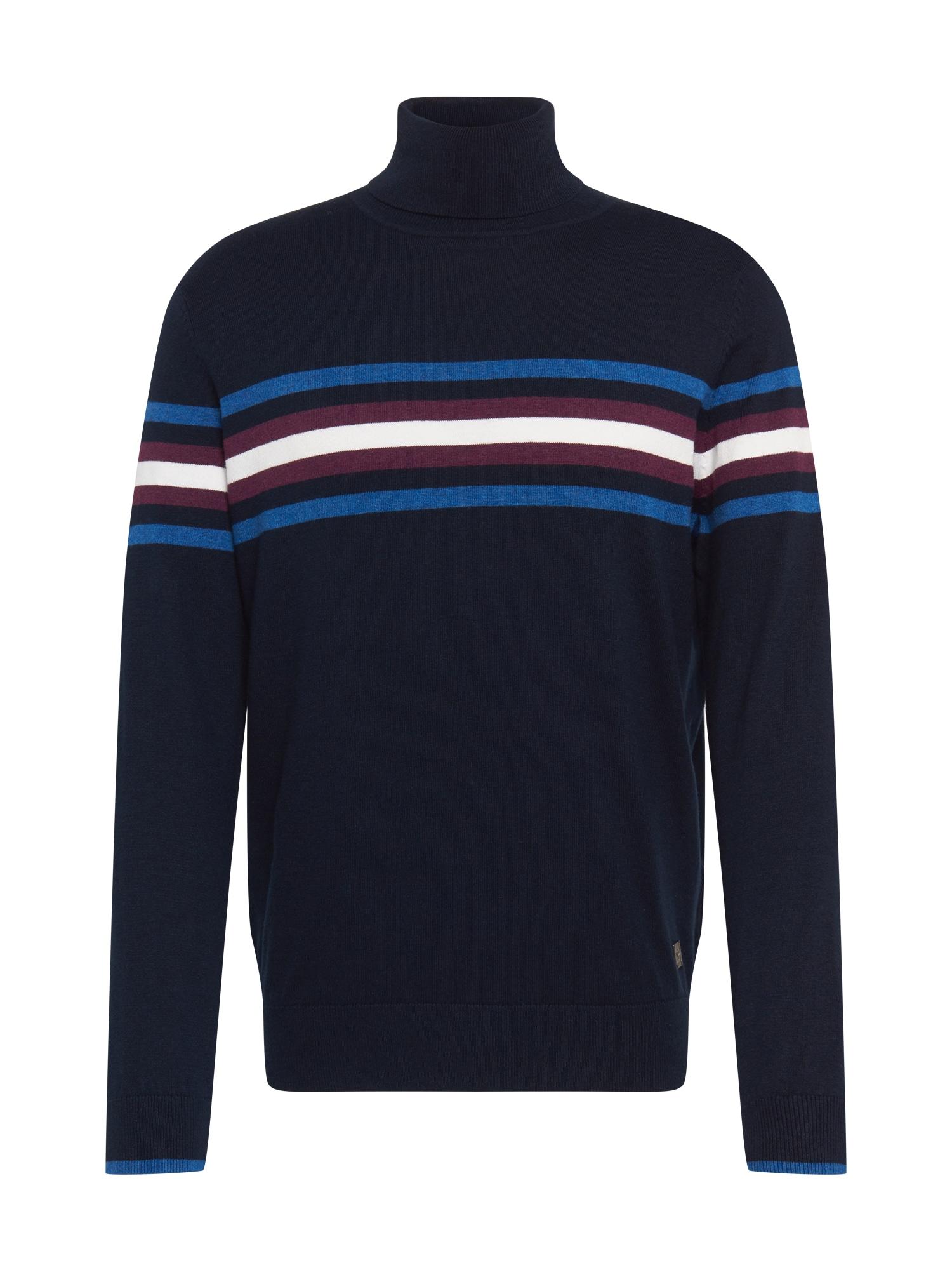 bugatti Megztinis tamsiai mėlyna / mėlyna / balta / uogų spalva