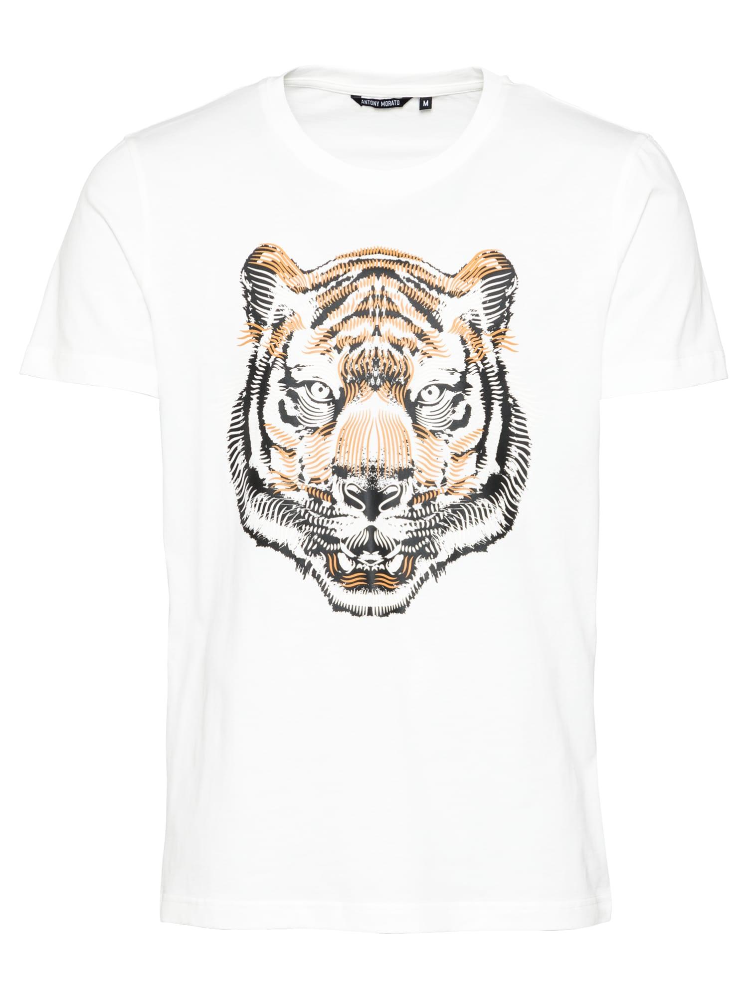 ANTONY MORATO Marškinėliai juoda / abrikosų spalva / balta
