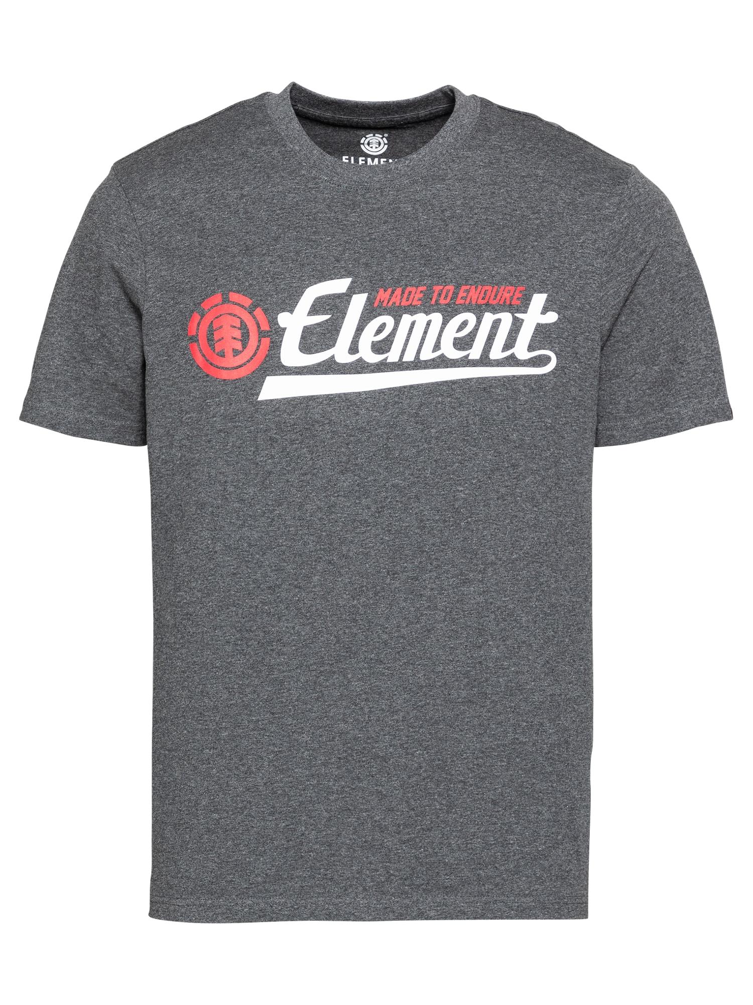 ELEMENT Marškinėliai margai pilka / oranžinė-raudona / balta