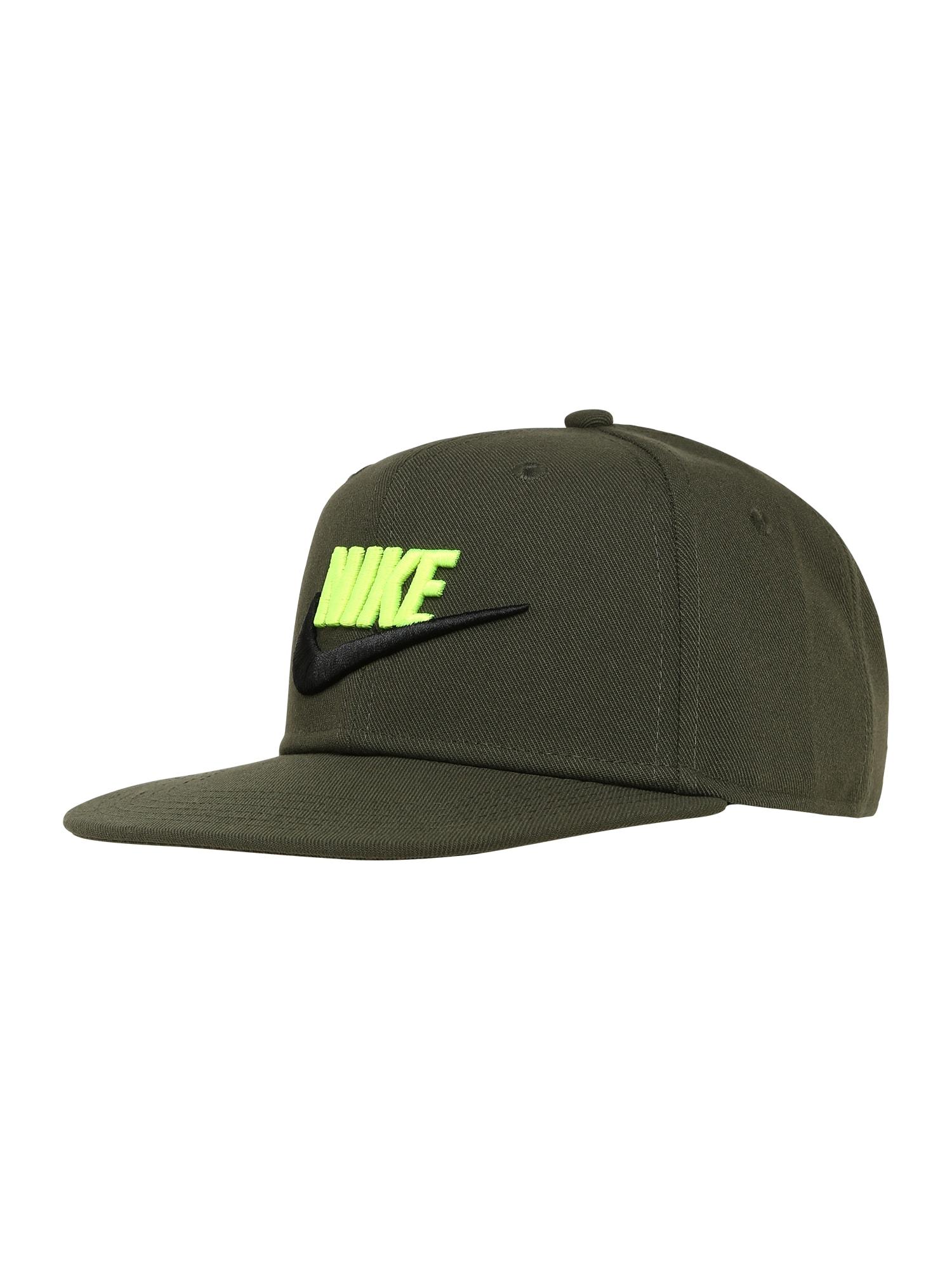 Nike Sportswear Skrybėlaitė 'Futura 4' rusvai žalia