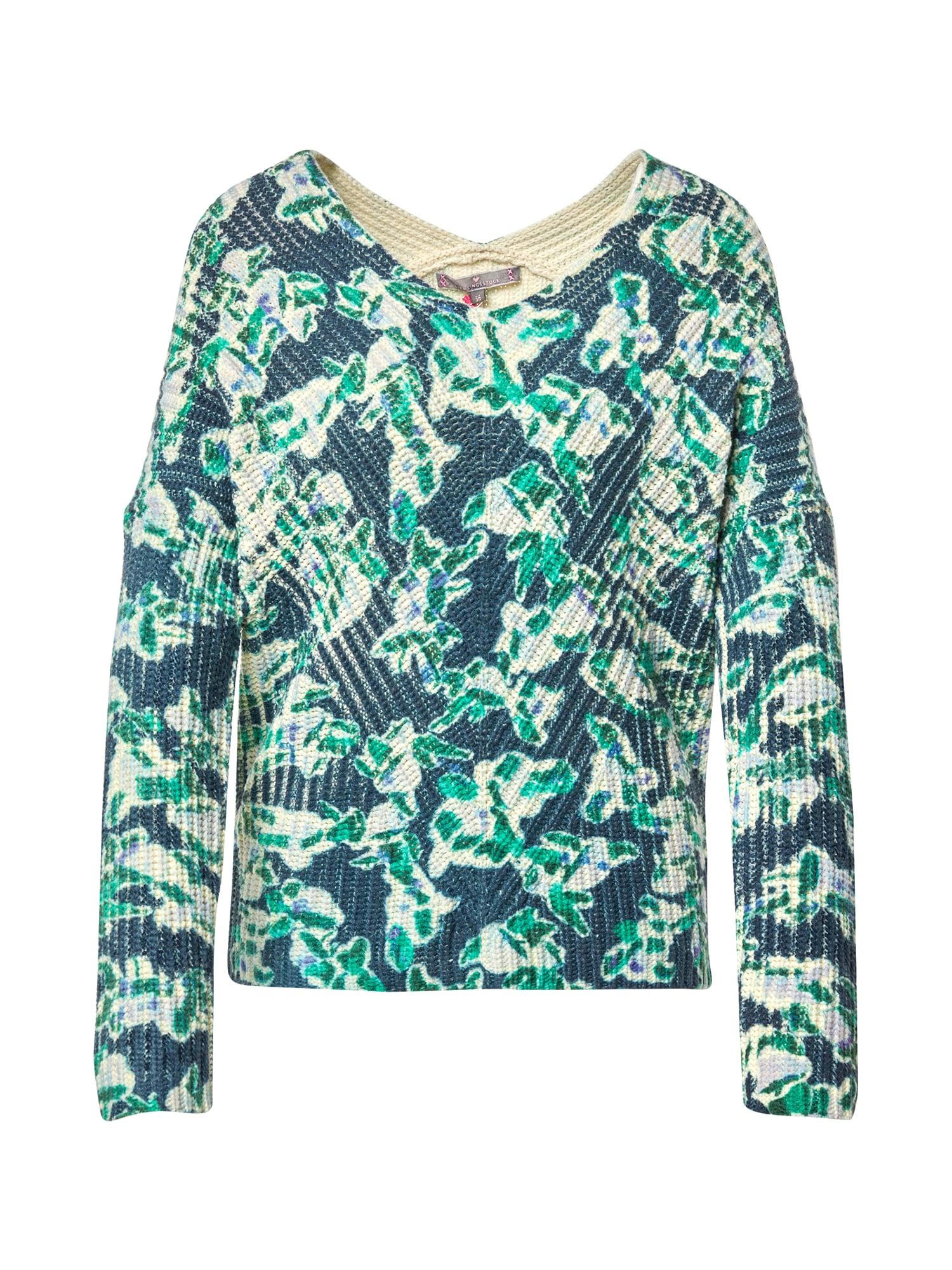 LIEBLINGSSTÜCK Megztinis tamsiai mėlyna / žalia / šviesiai mėlyna / smėlio
