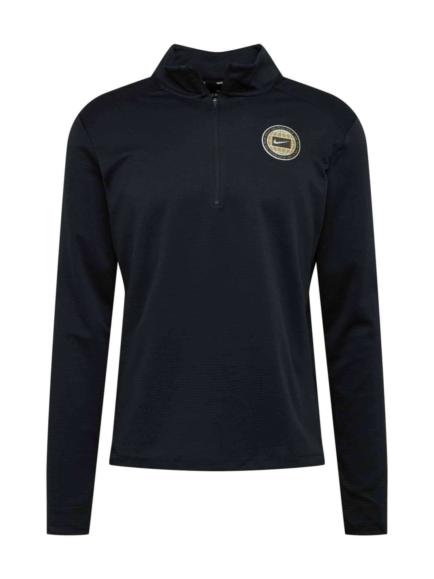NIKE Sportinio tipo megztinis 'Pacer Wild Run' juoda / medaus spalva / balta
