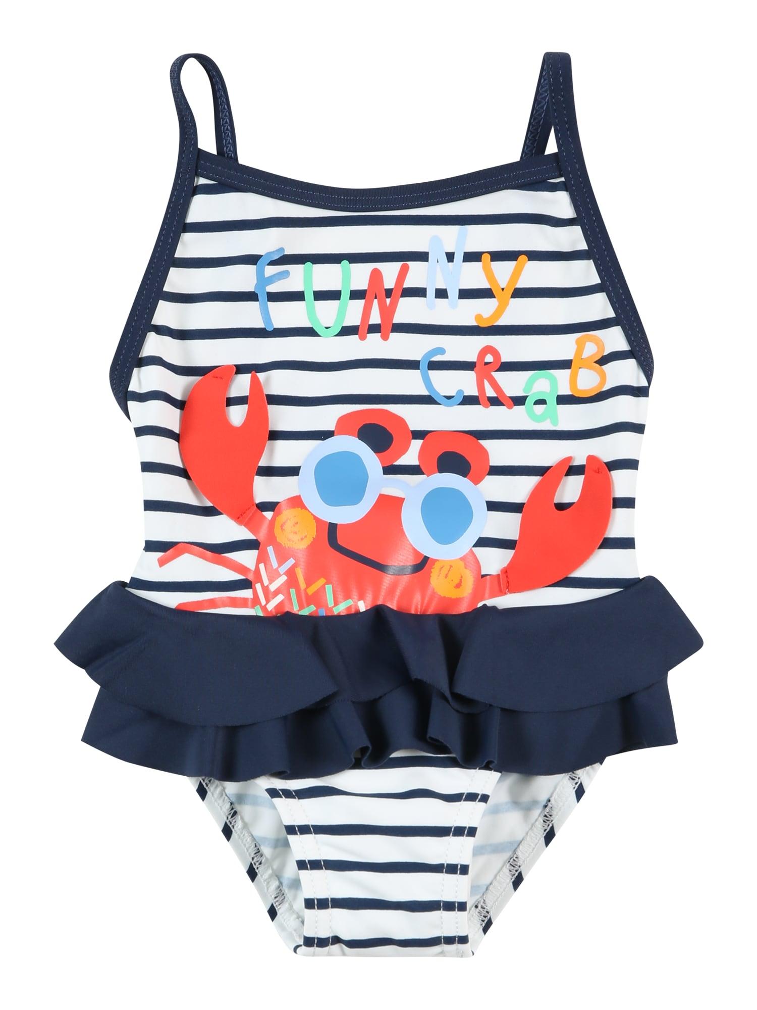 Boboli Maudymosi kostiumėlis tamsiai mėlyna / balta / šviesiai raudona / koralų splava / mišrios spalvos